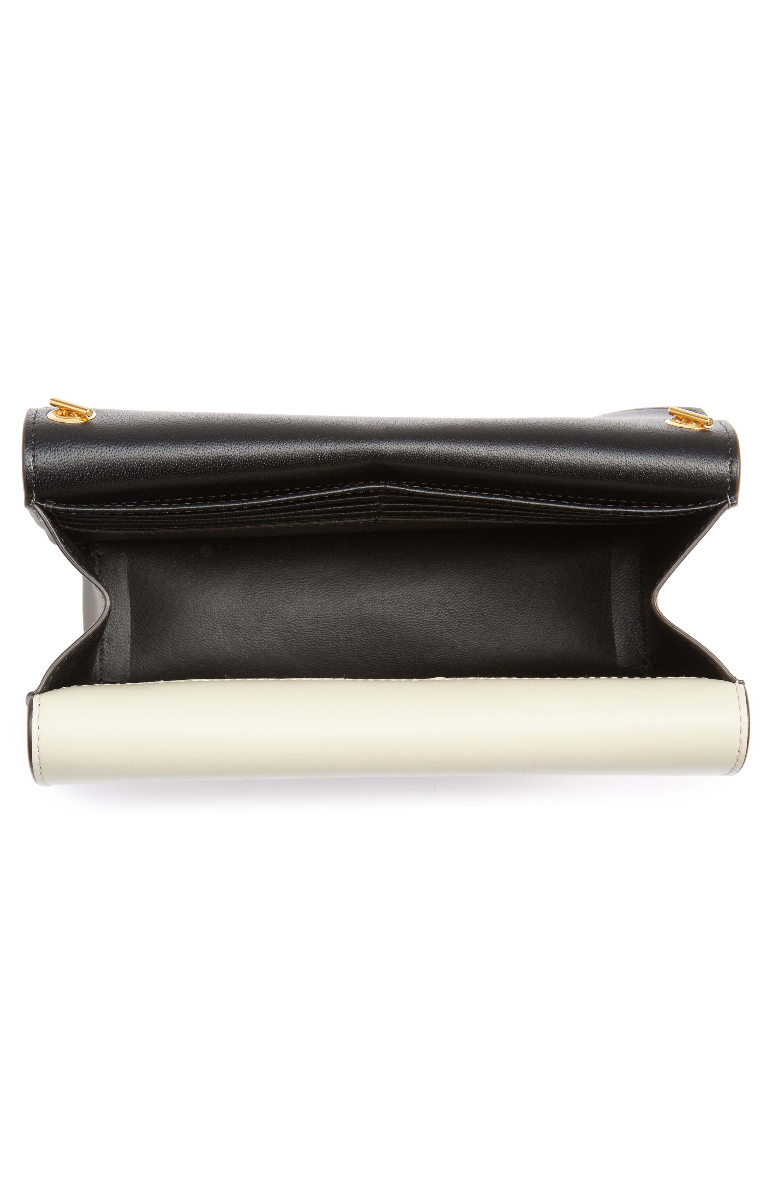 Multiflap Calfskin Leather Clutch,                             Alternate thumbnail 8, color,
