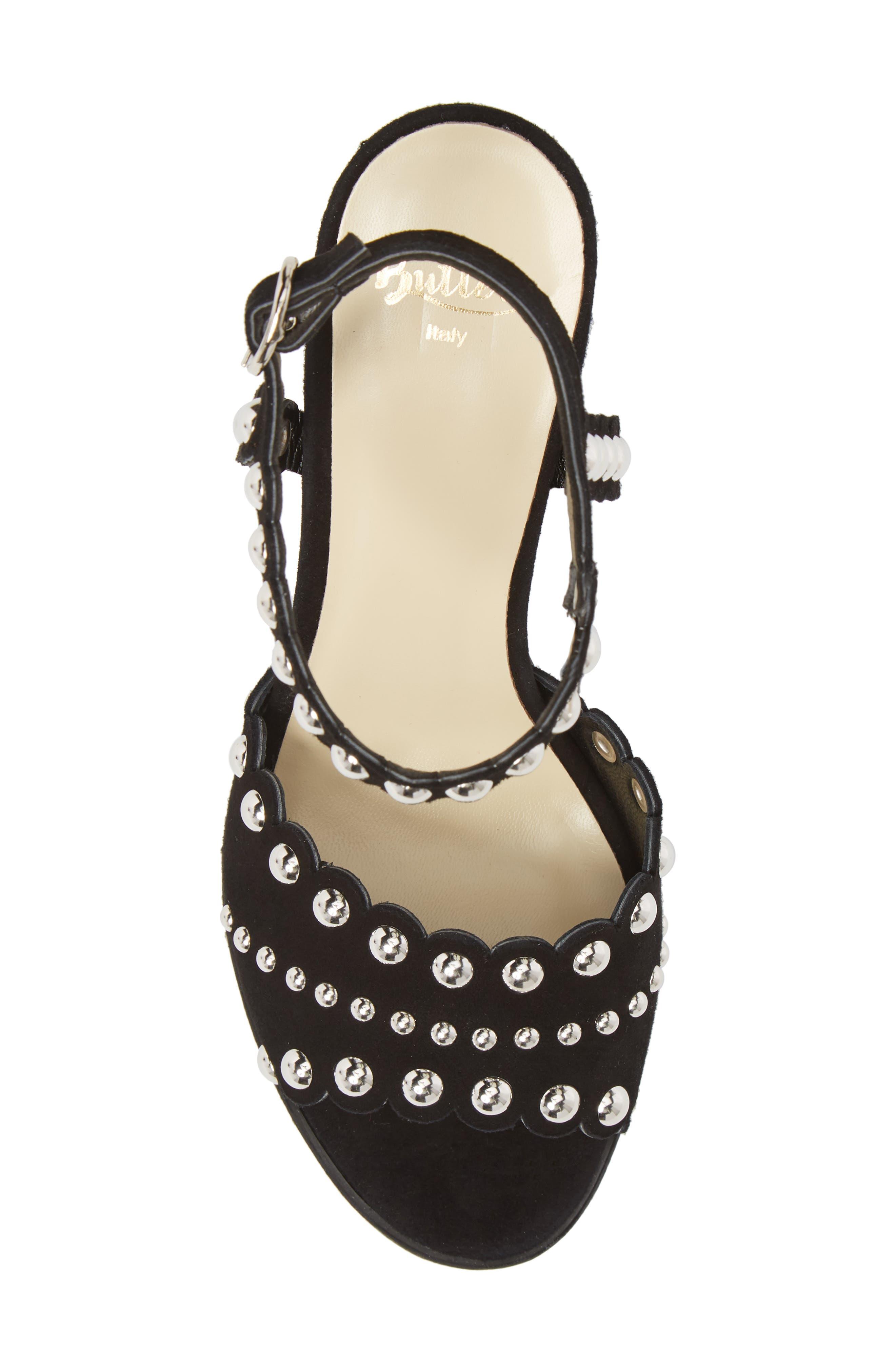 Butter Hetty Studded Ankle Strap Sandal,                             Alternate thumbnail 5, color,                             001