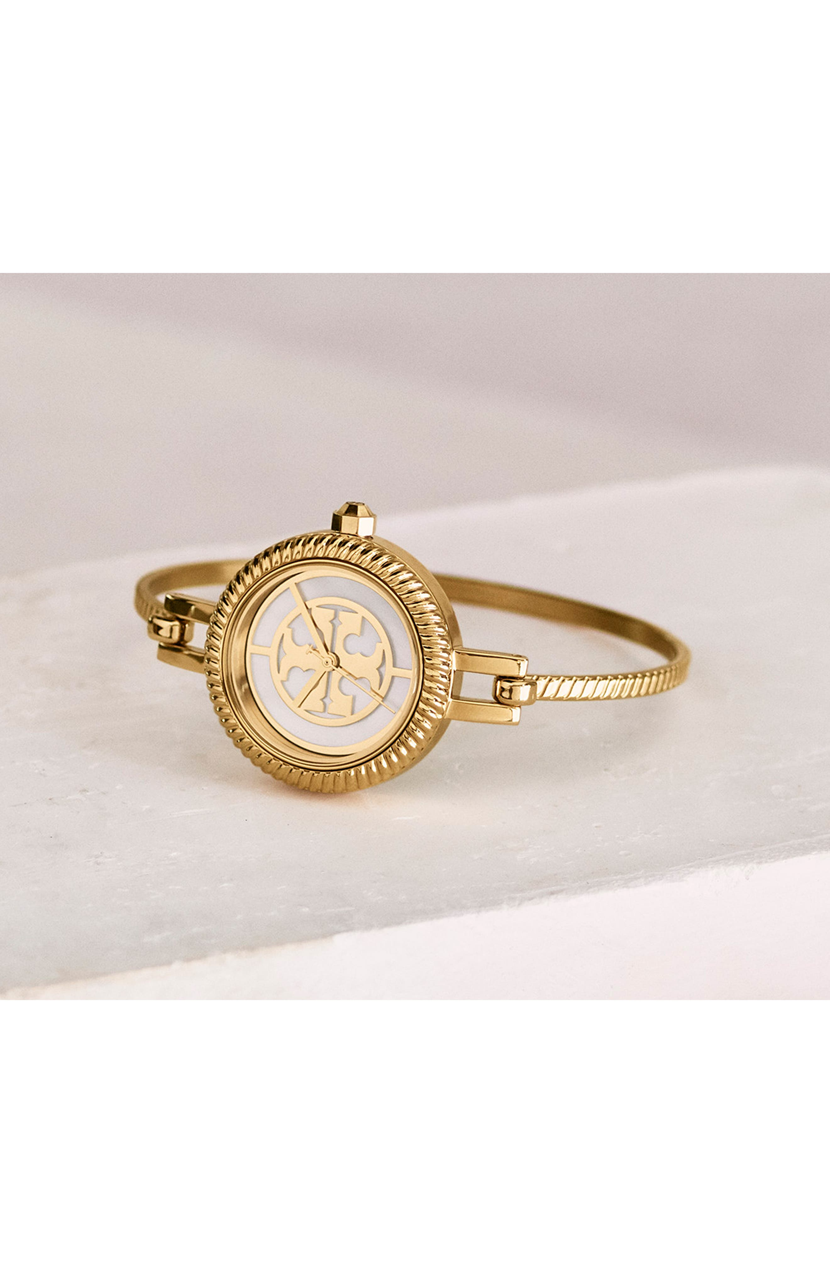 The Reva Bangle Watch Set, 29mm,                             Alternate thumbnail 4, color,                             GOLD/ MOP/ PINK/ RED/ BLUE