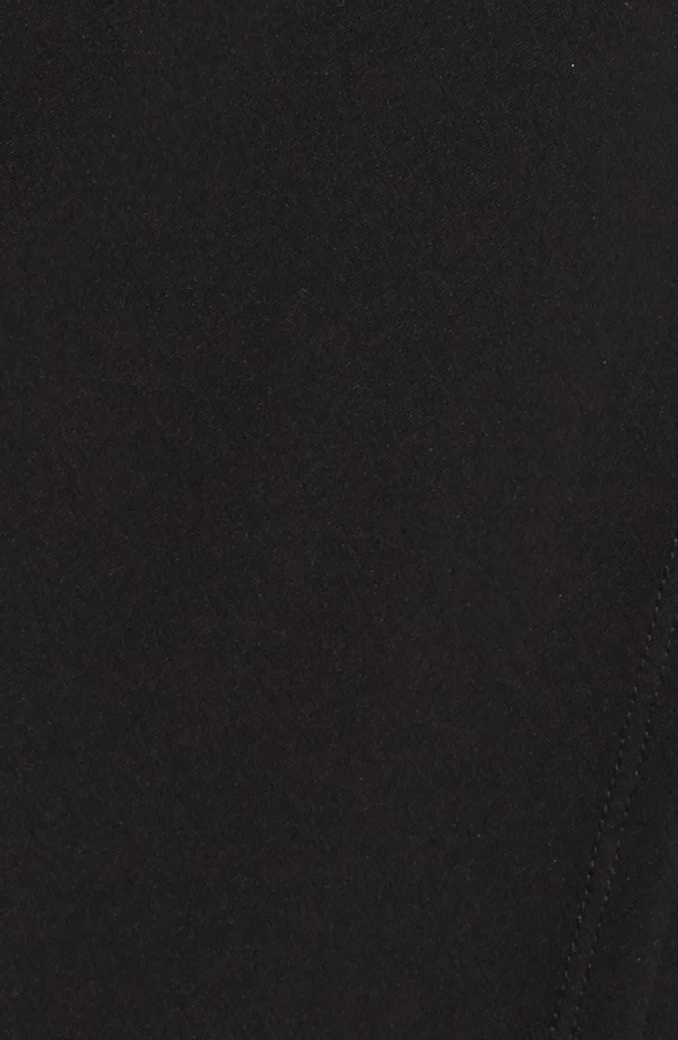 Asymmetric Hem Sheath Dress,                             Alternate thumbnail 5, color,                             001
