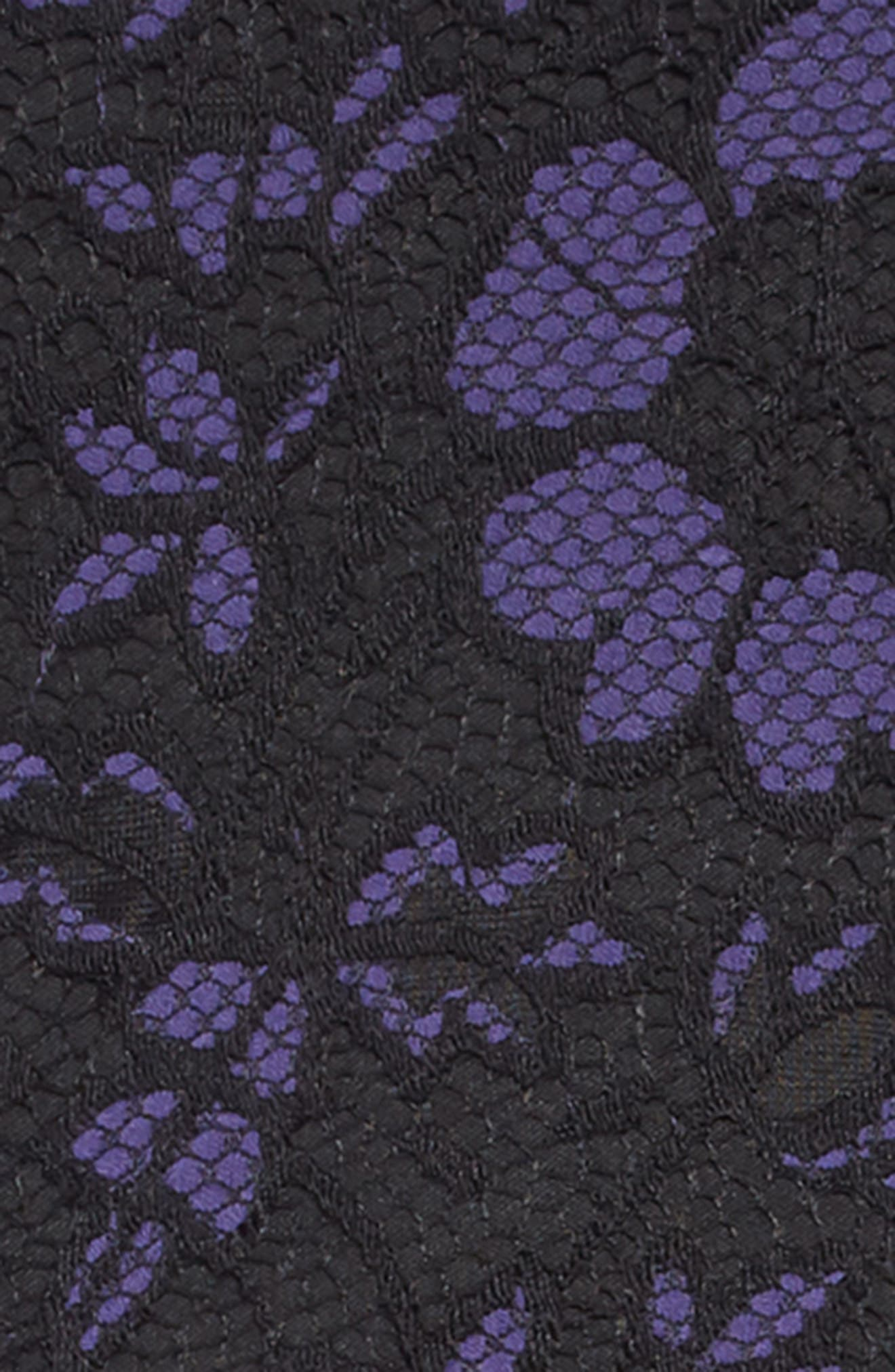 Lace Overlay Dress,                             Alternate thumbnail 3, color,                             ROYAL