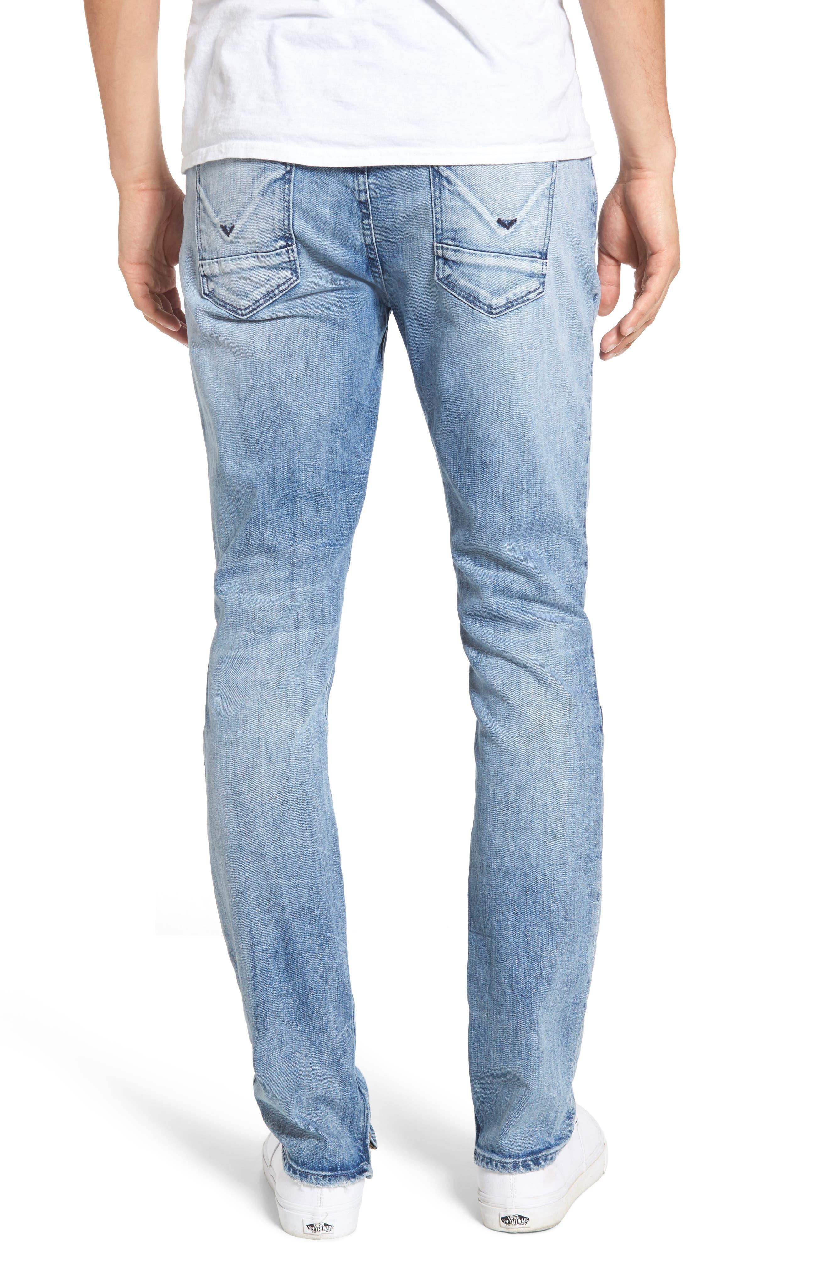 Vaughn Biker Skinny Fit Jeans,                             Alternate thumbnail 2, color,                             451