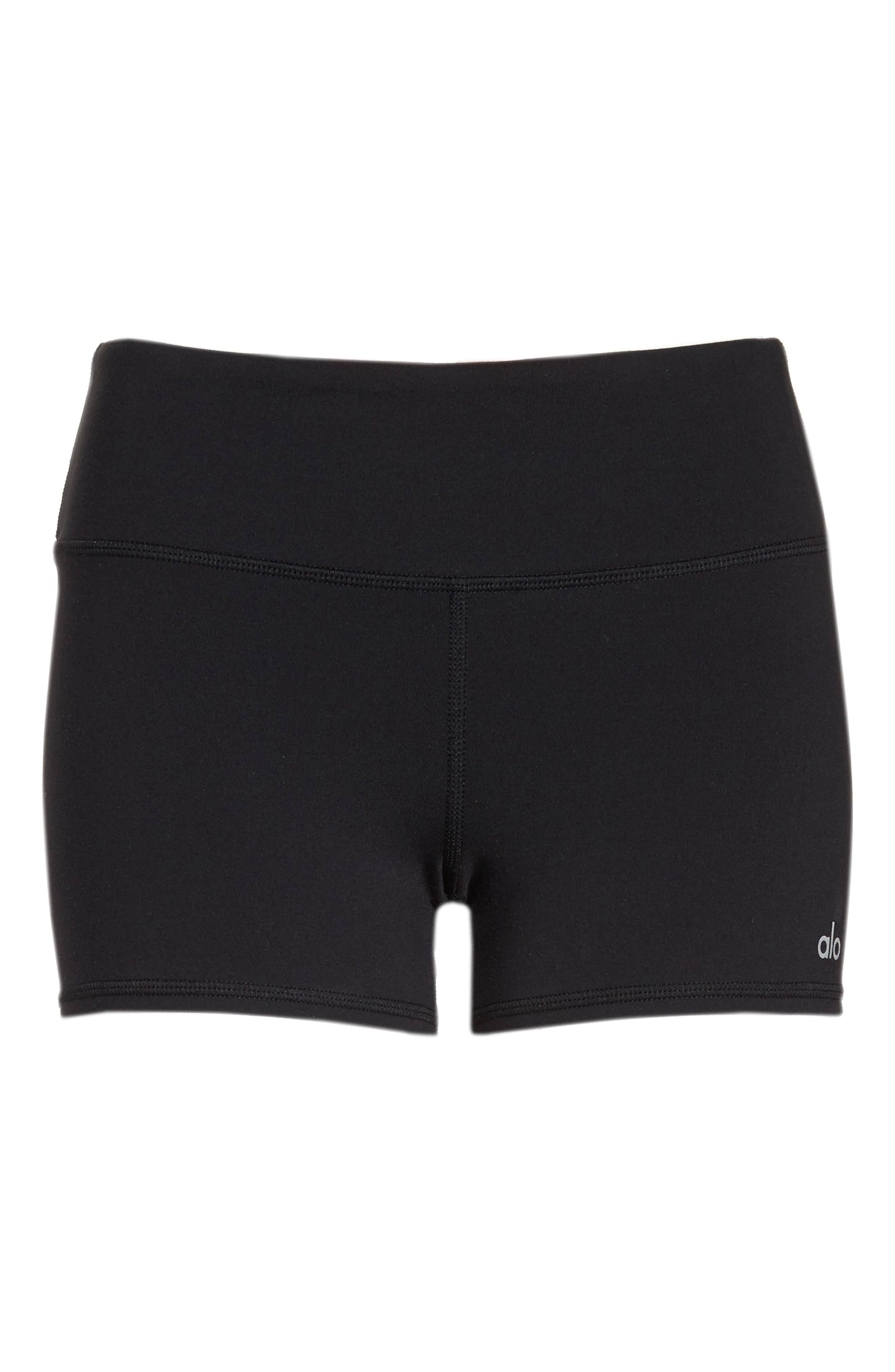 Airbrush Shorts,                             Alternate thumbnail 7, color,                             BLACK