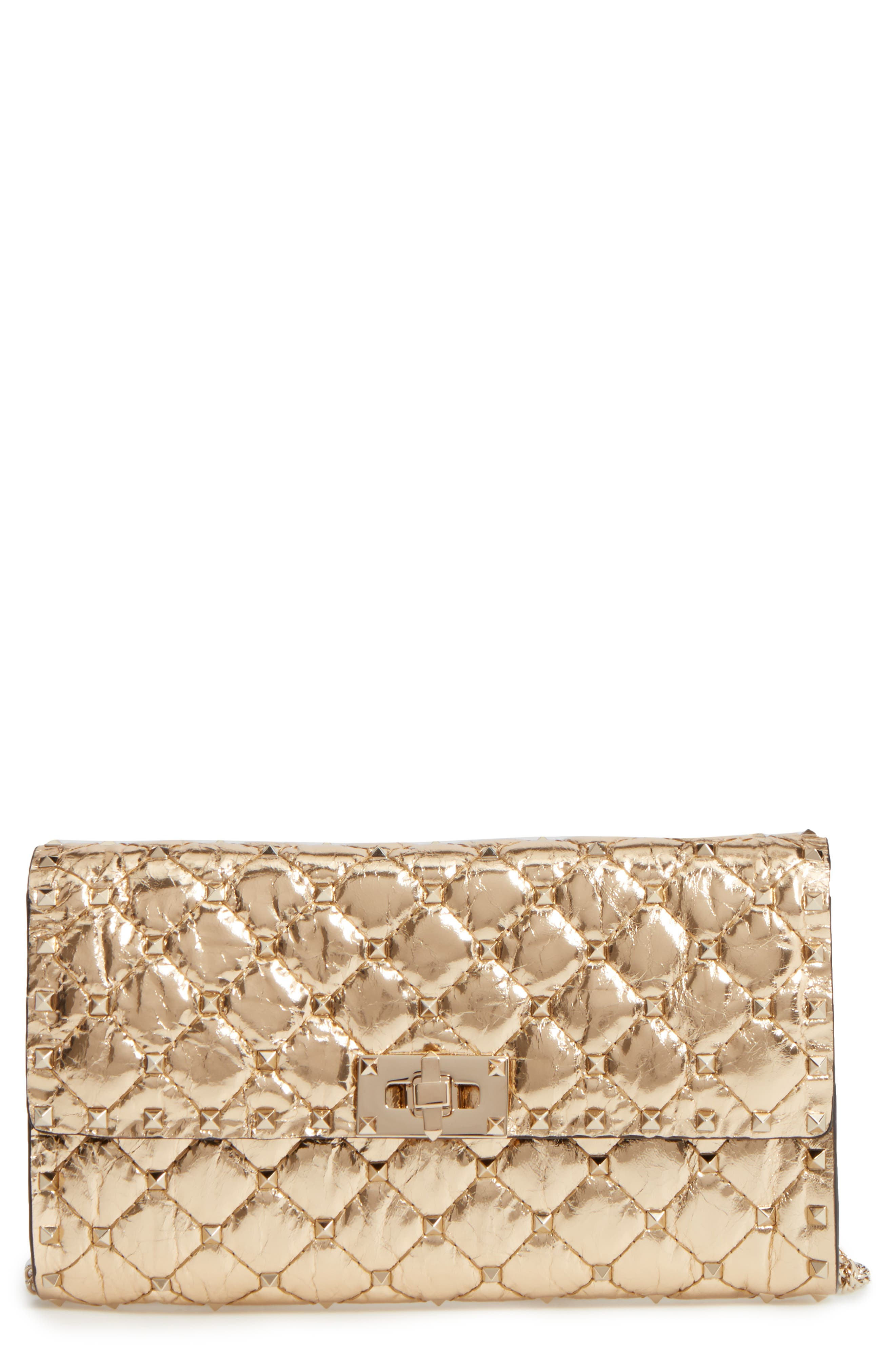 Rockstud Spike Wallet on a Chain,                         Main,                         color, 710