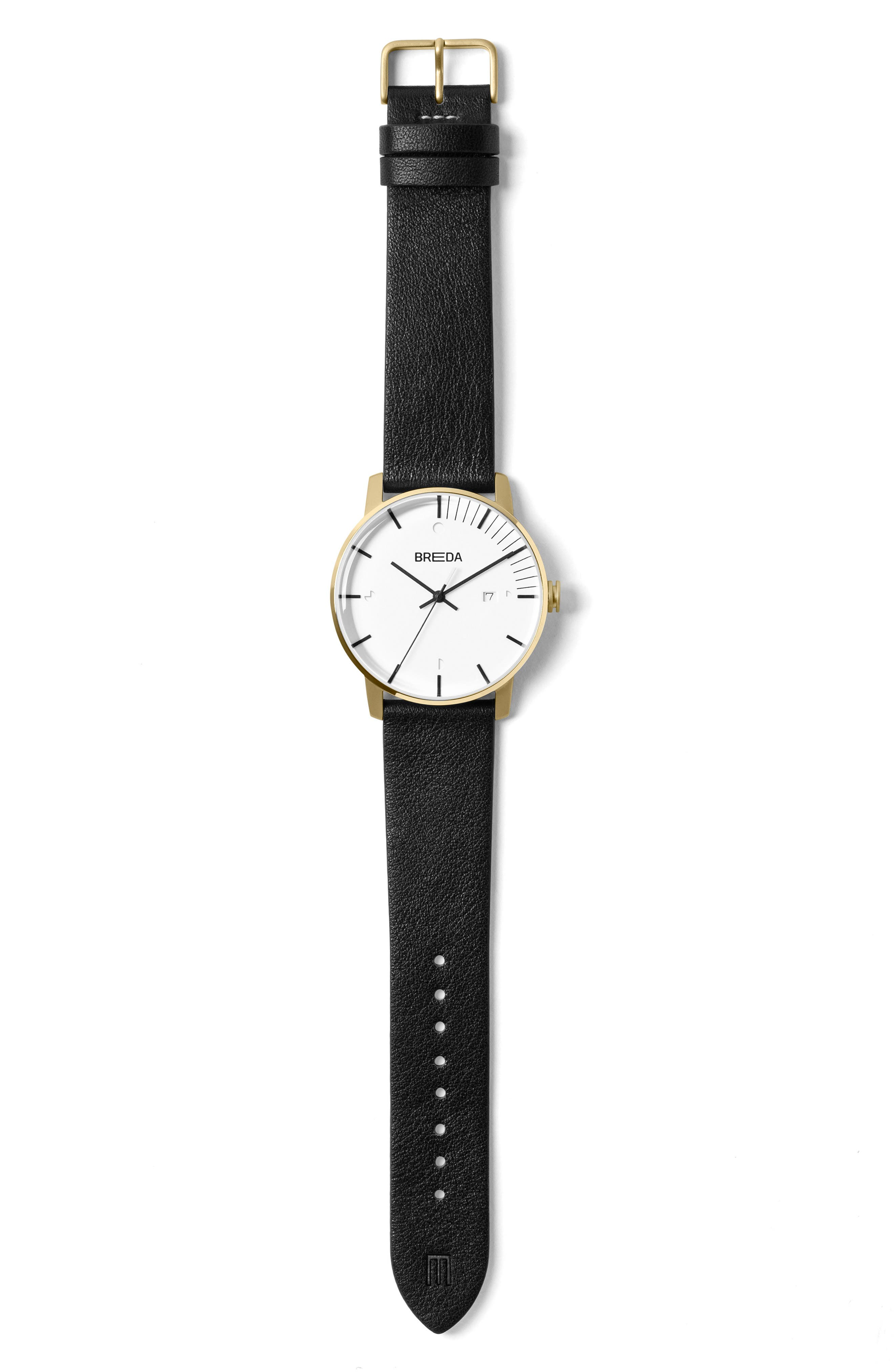 Phase Leather Strap Watch, 39mm,                             Alternate thumbnail 3, color,                             001