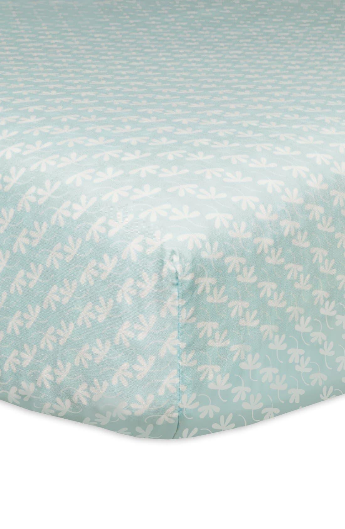 'Flora' Crib Sheet, Crib Skirt, Changing Pad Cover, Blanket & Wall Decals,                             Alternate thumbnail 2, color,                             400