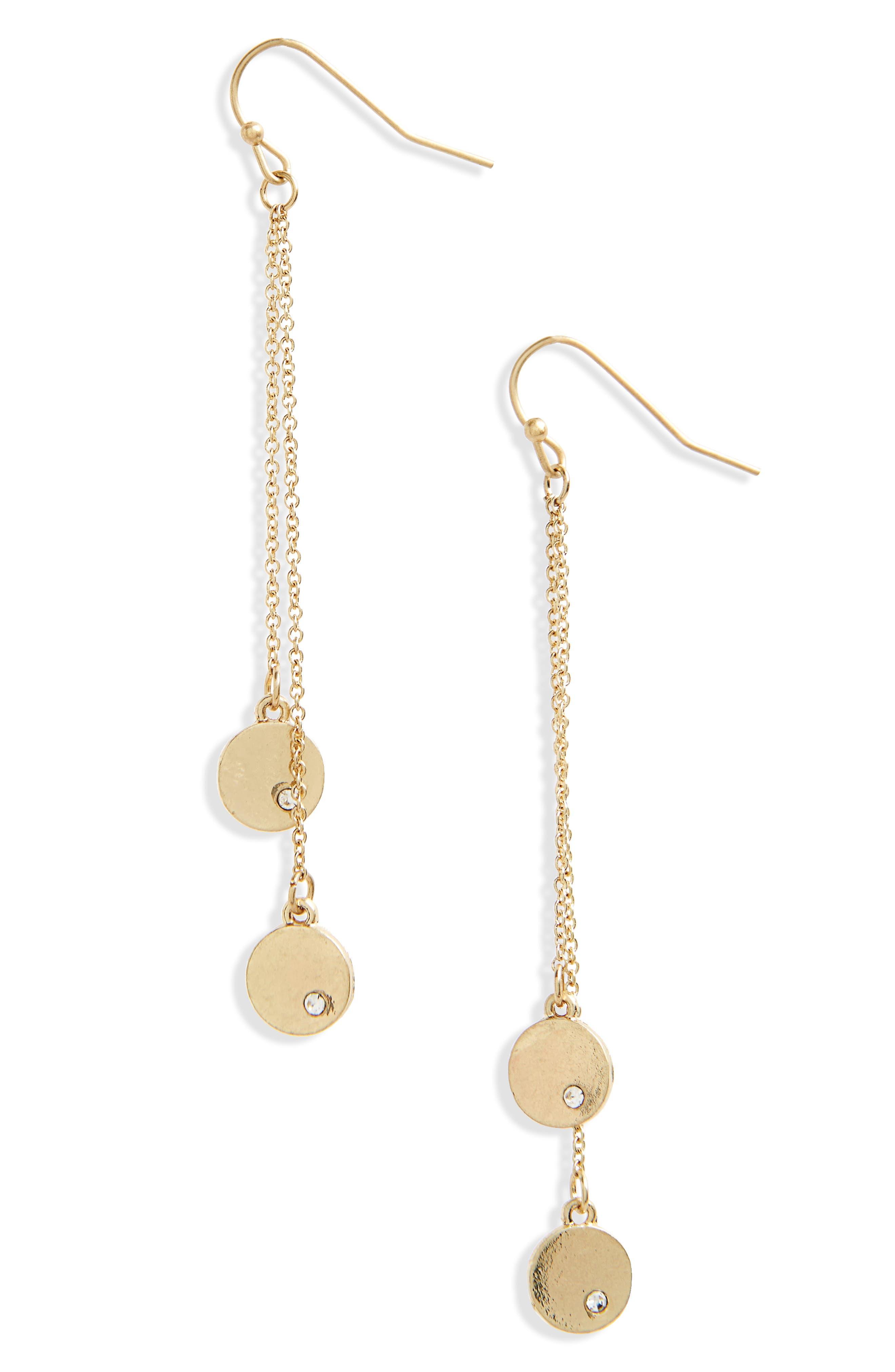 Linear Disc Earrings,                         Main,                         color, 710