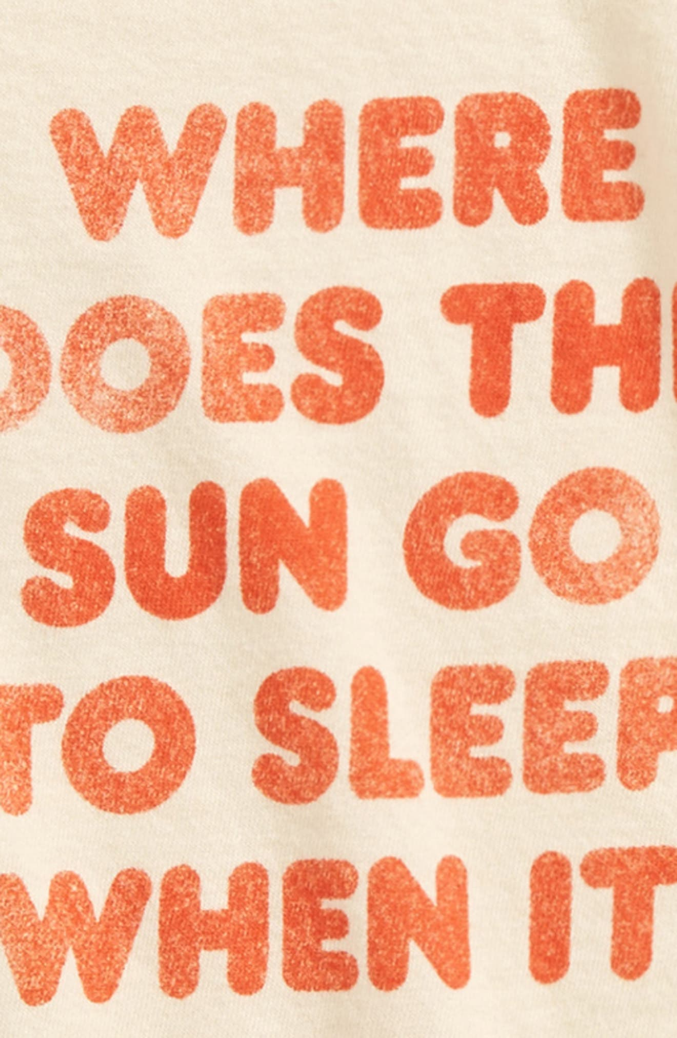 Where Does the Sun Go Organic Cotton Tee,                             Alternate thumbnail 2, color,                             105