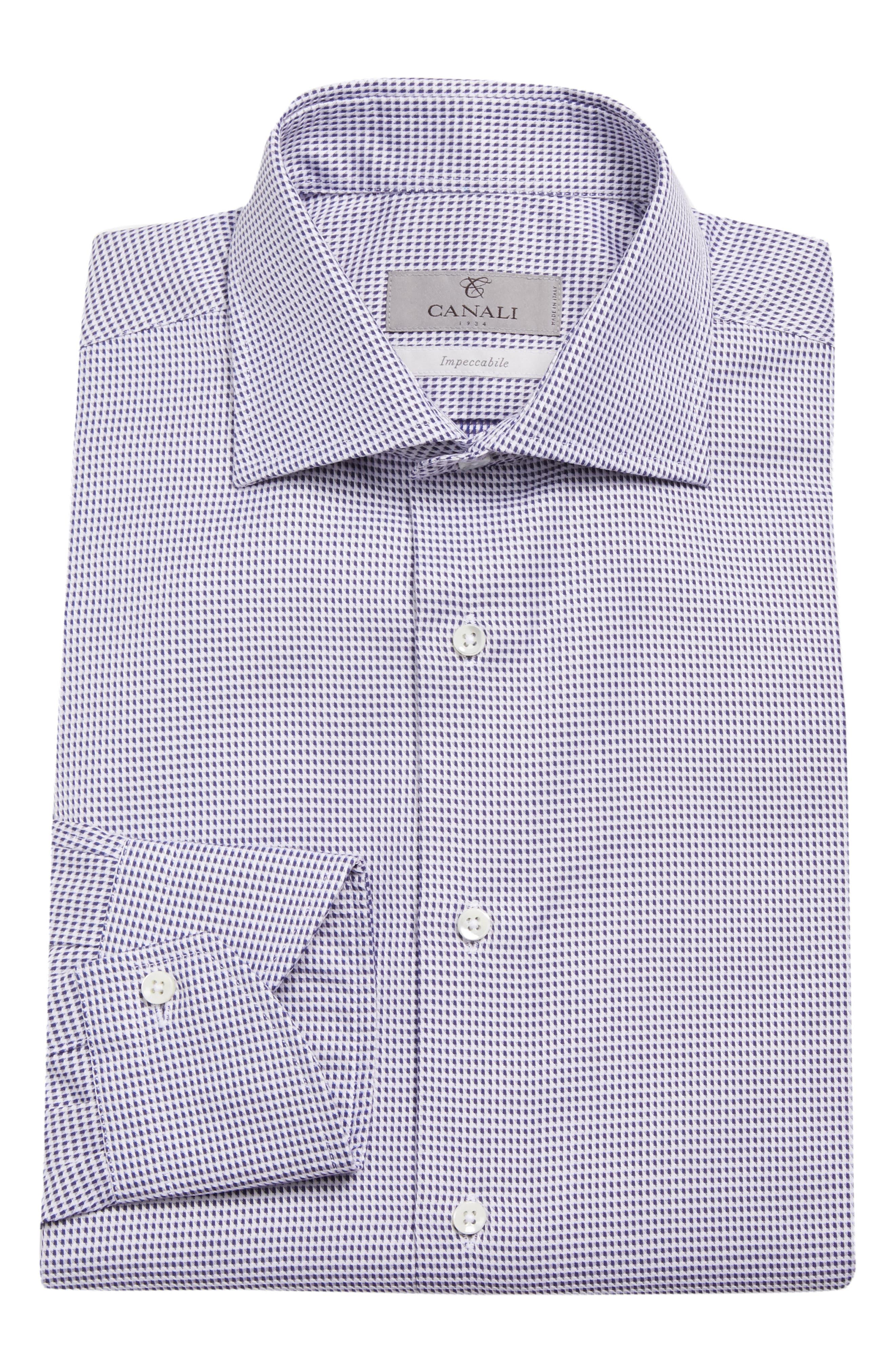 Regular Fit Print Dress Shirt,                             Alternate thumbnail 5, color,                             401