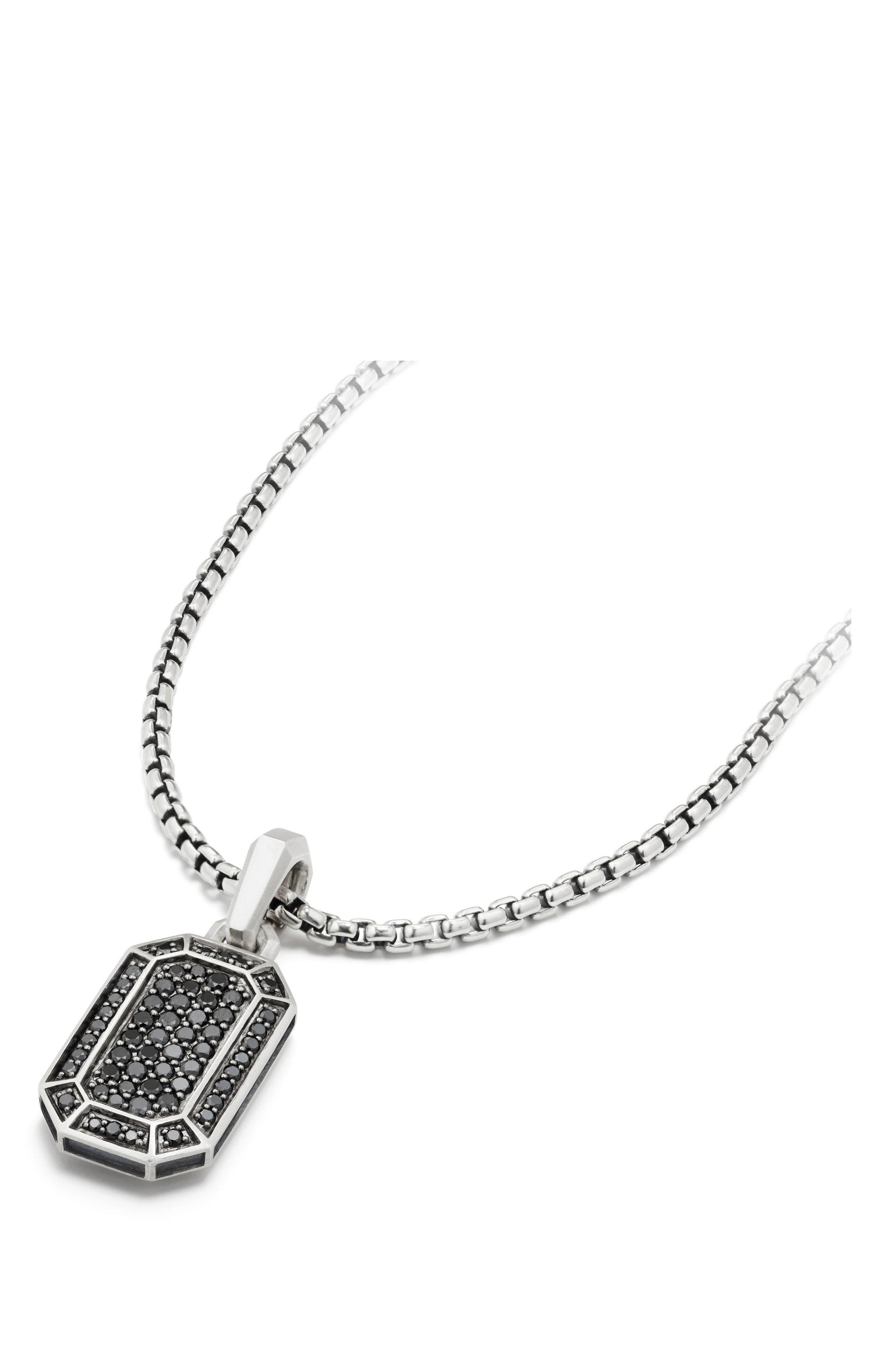 Streamline Pavé Amulet with Black Diamonds,                             Alternate thumbnail 2, color,                             001