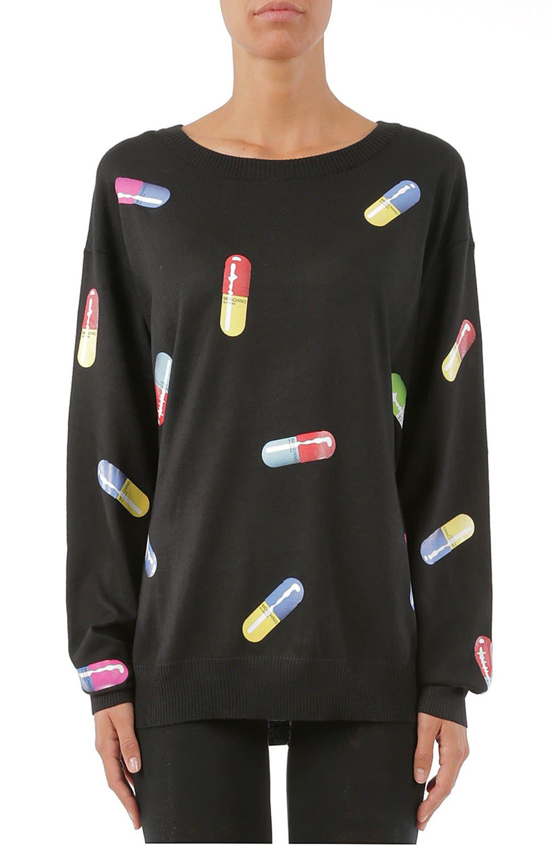 Pill Print Sweater,                             Main thumbnail 1, color,                             015