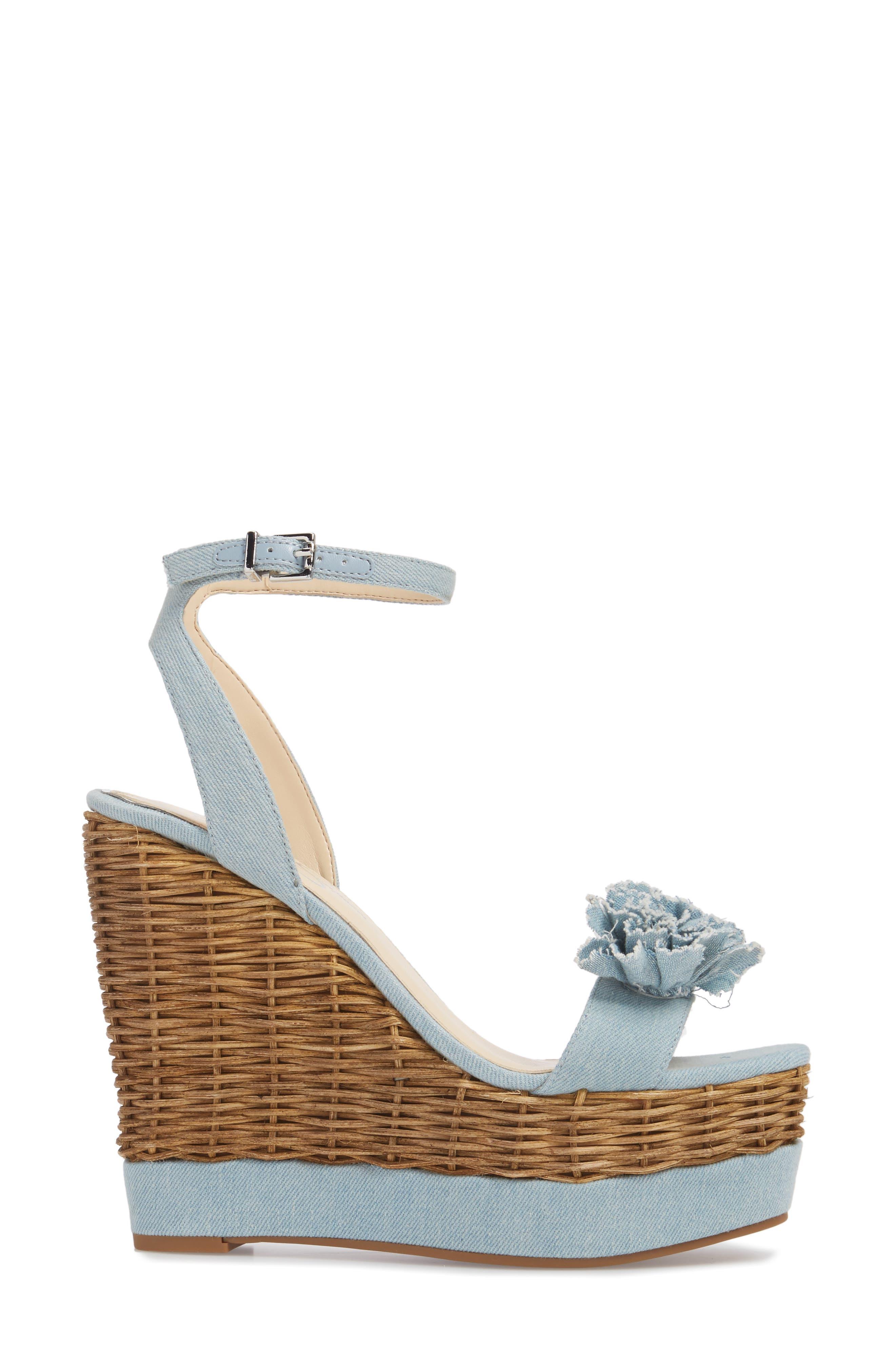 Pressa Platform Wedge Sandal,                             Alternate thumbnail 3, color,                             VINTAGE BLUE