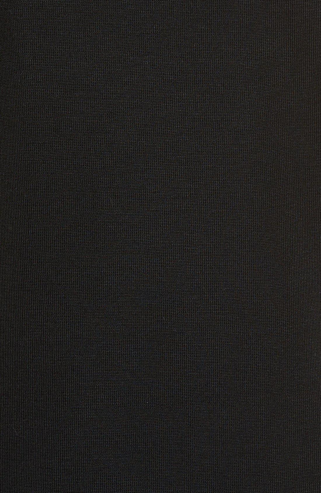 Long Knit Tank,                             Alternate thumbnail 4, color,                             BLACK