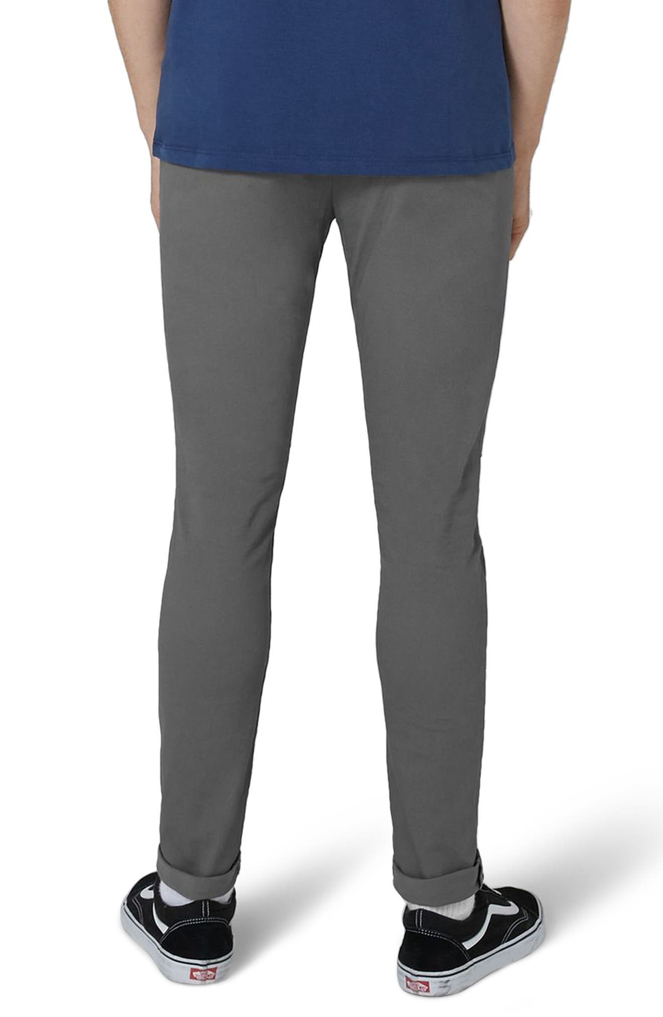 Stretch Skinny Fit Chinos,                             Alternate thumbnail 2, color,                             GREY