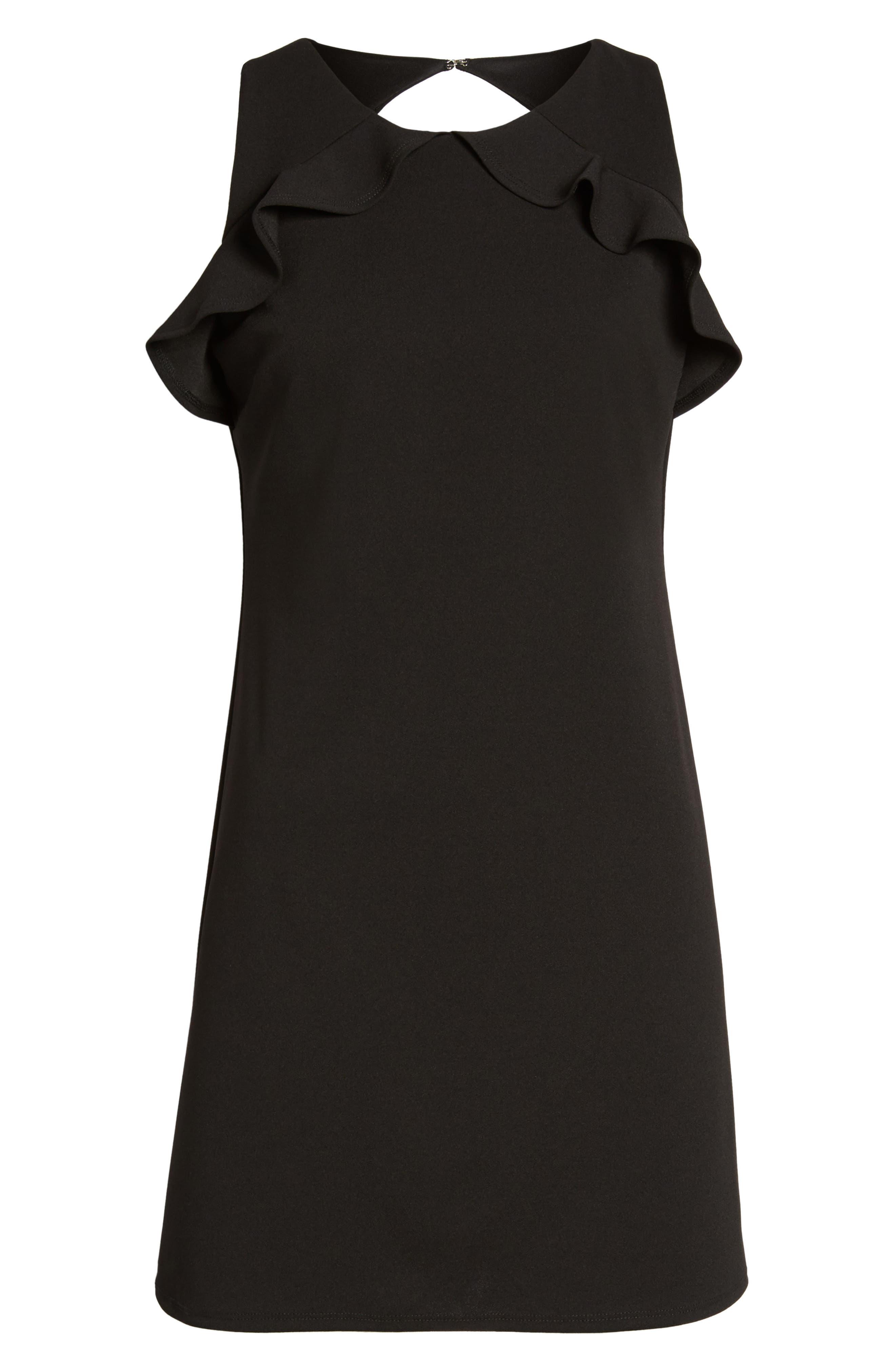 Ruffle Sleeveless Dress,                             Alternate thumbnail 6, color,                             001