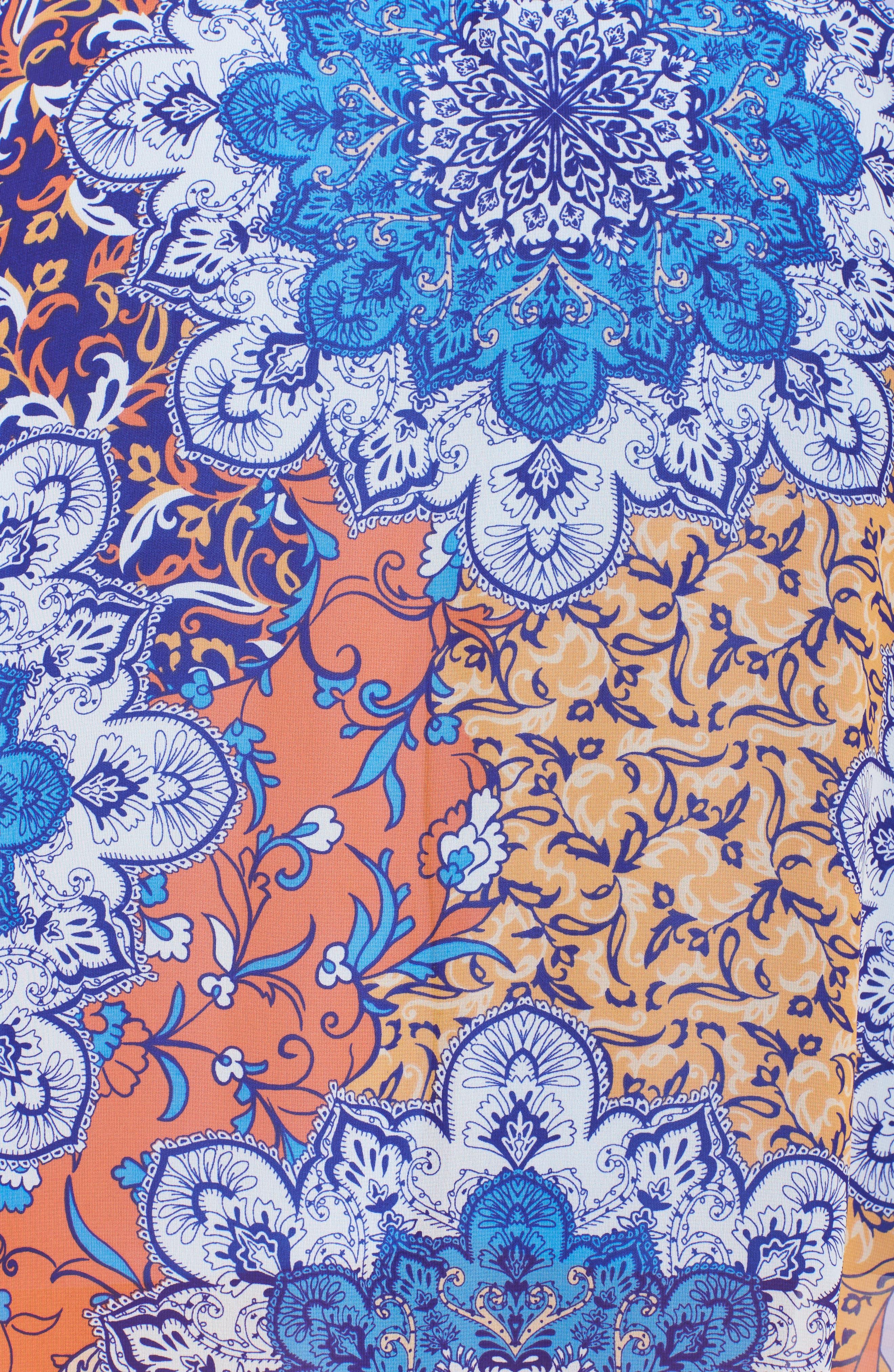 Print Cold Shoulder Maxi Dress,                             Alternate thumbnail 5, color,