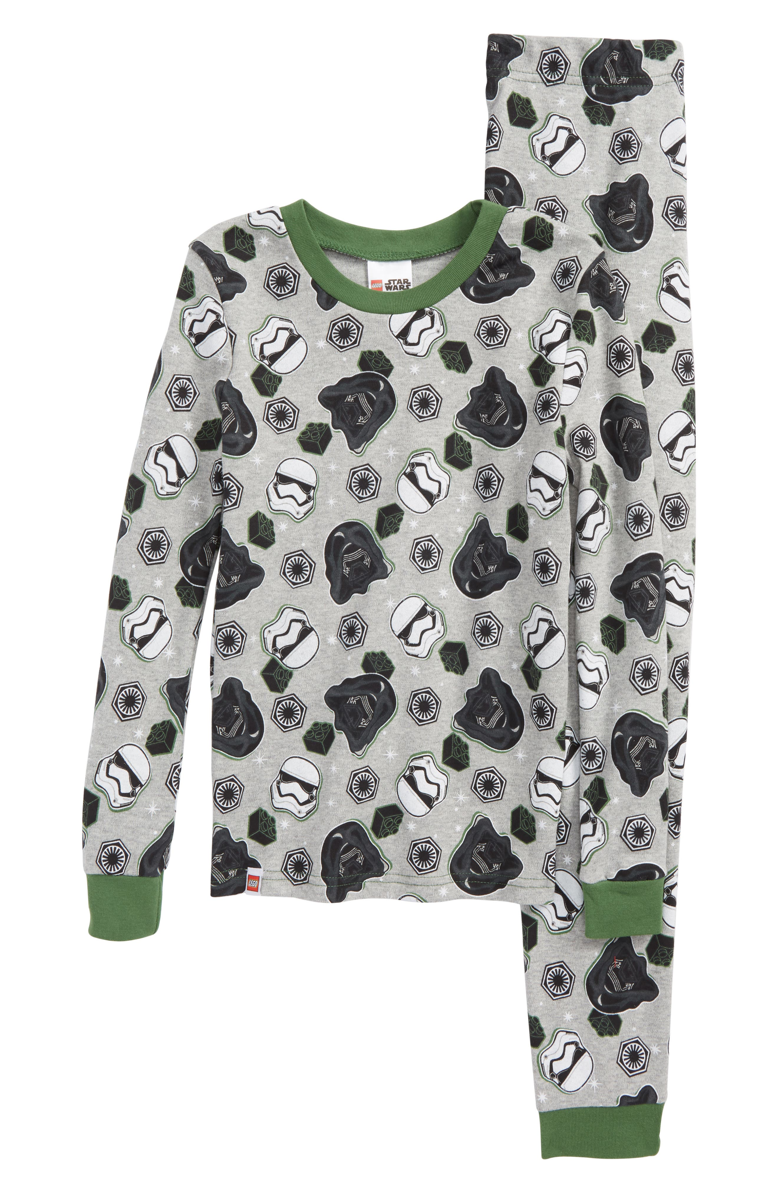 Lego Star Wars<sup>™</sup> Fitted Two-Piece Pajamas Set,                             Main thumbnail 1, color,                             061