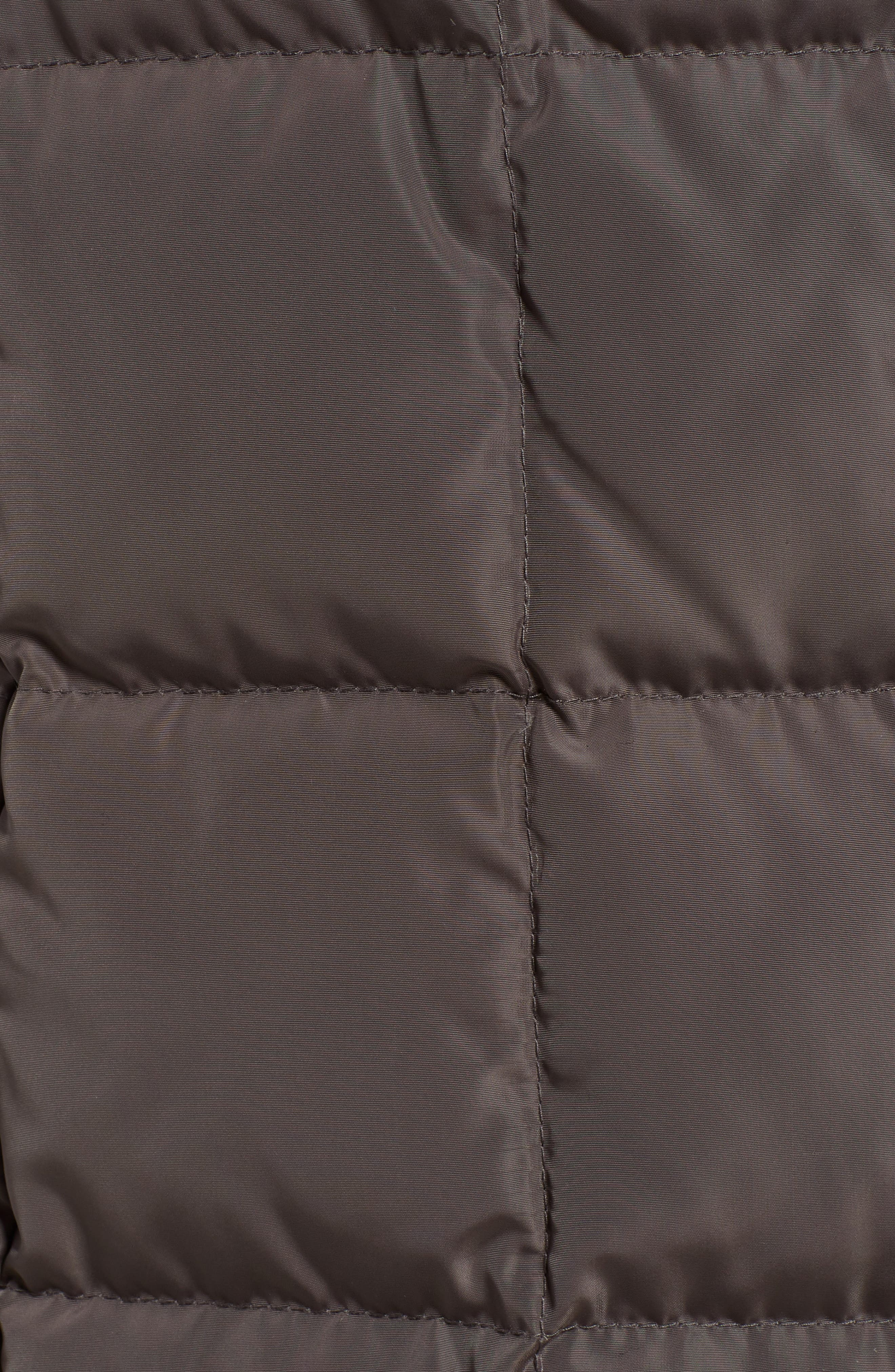 Cole Haan Quilted Coat with Inner Bib,                             Alternate thumbnail 7, color,                             024