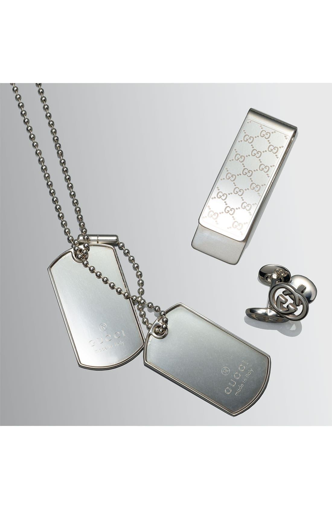 'Silver Britt' Cuff Links,                             Alternate thumbnail 3, color,                             040