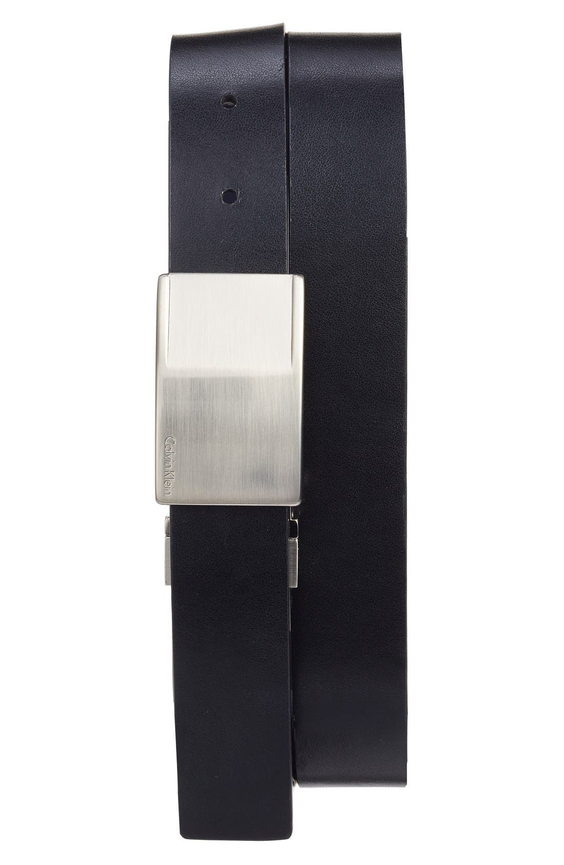 Reversible Leather Belt,                             Alternate thumbnail 2, color,                             491