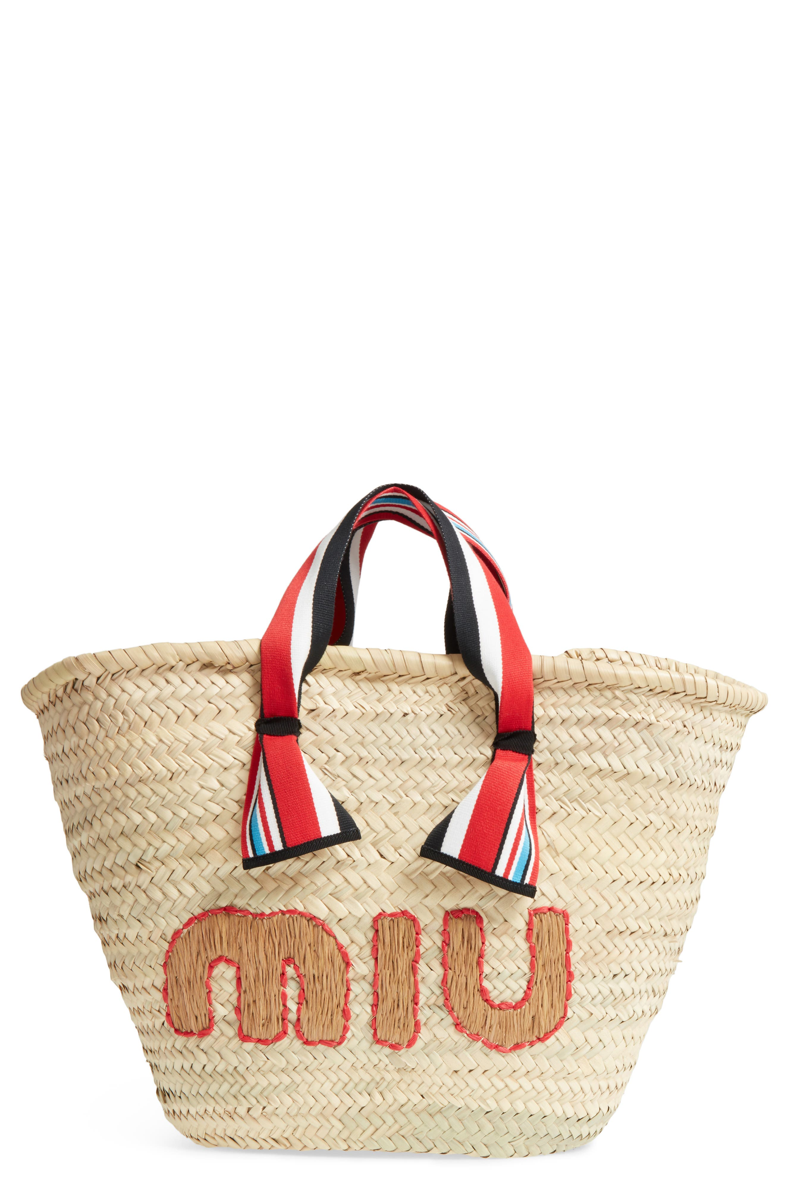 Paglia Straw Top Handle Tote,                             Main thumbnail 1, color,                             250
