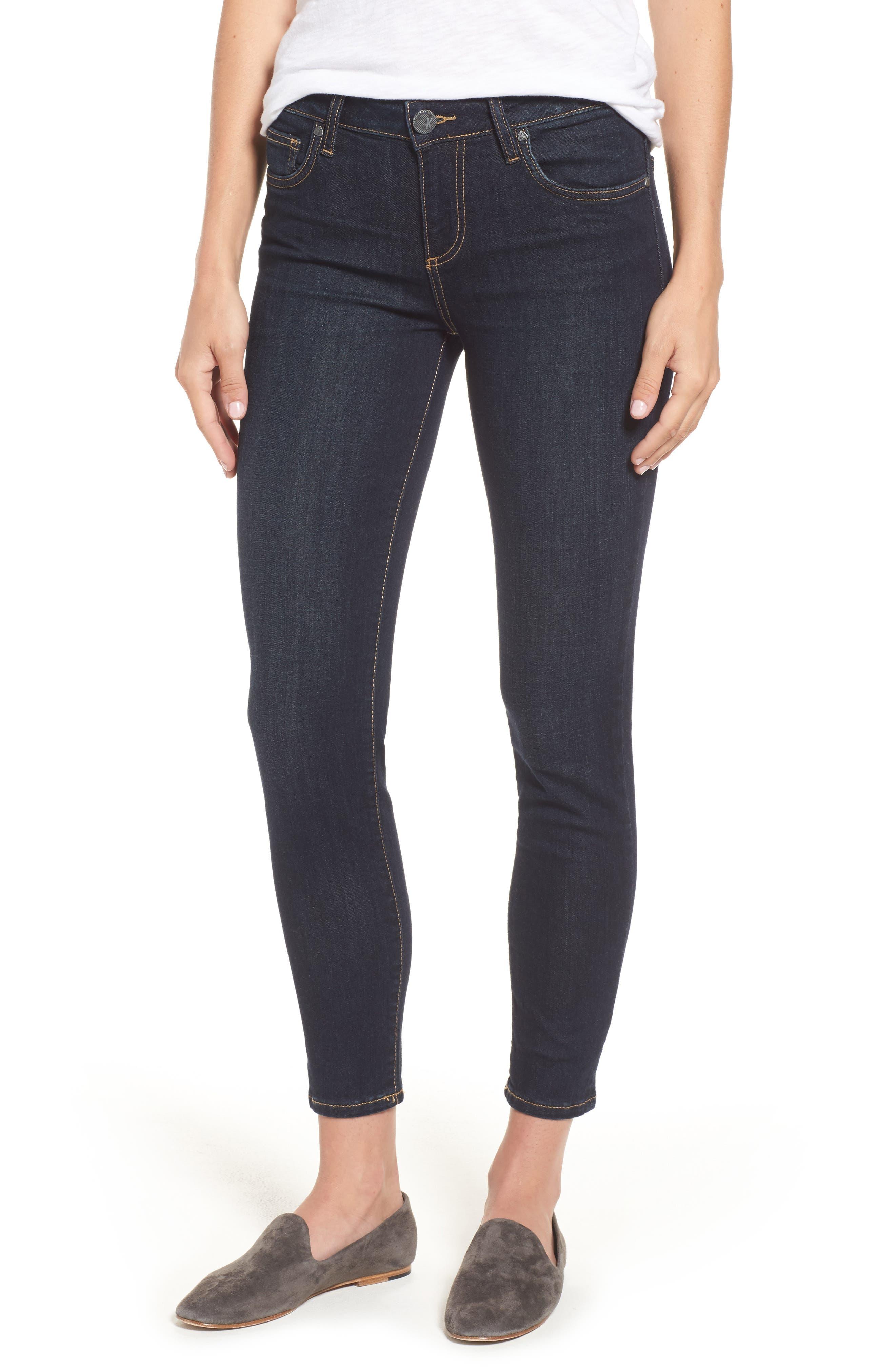 Diana Kurvy Stretch Ankle Jeans,                             Main thumbnail 1, color,                             490