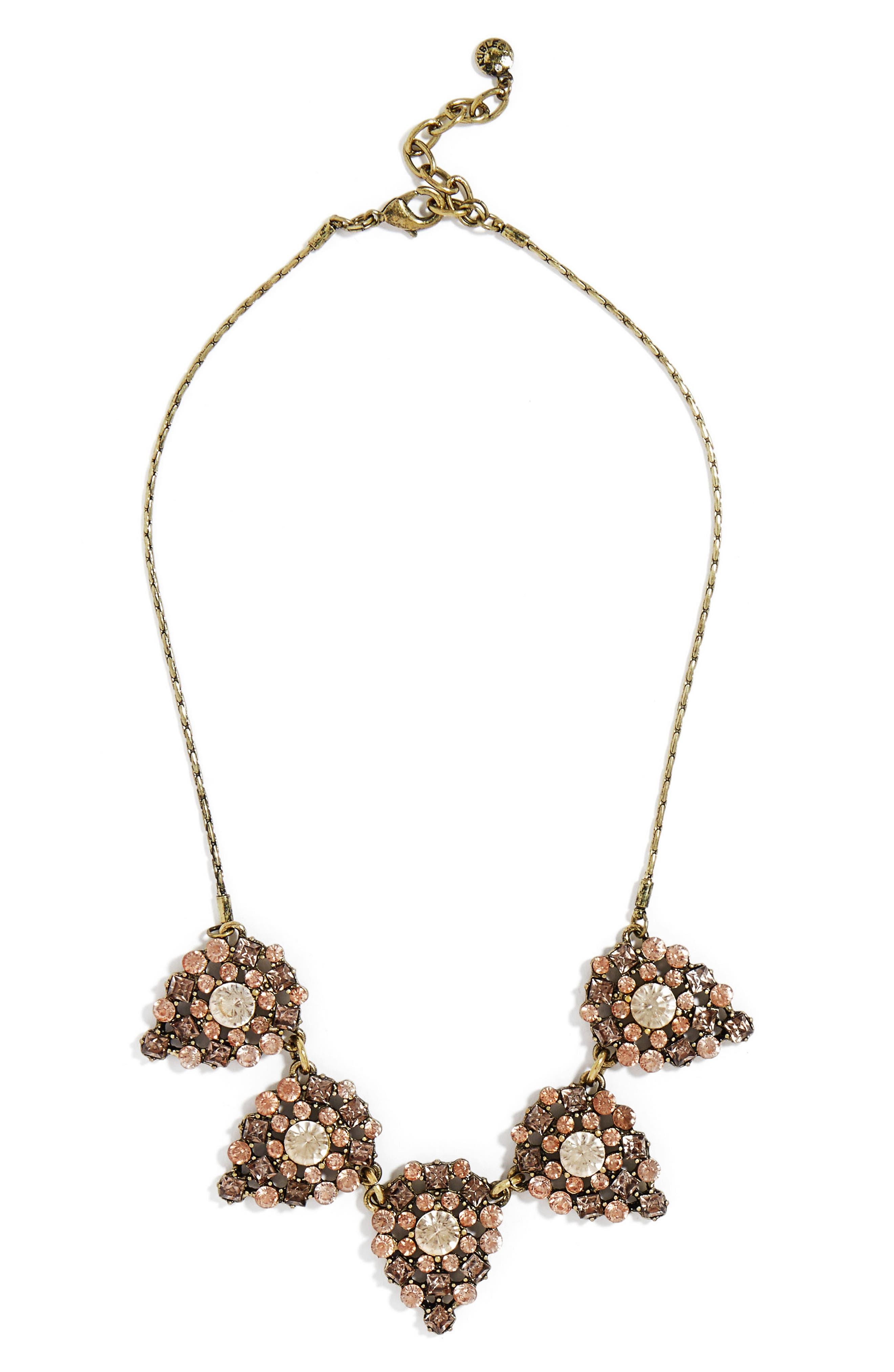 'Frost' Crystal Teardrop Necklace,                         Main,                         color, 650