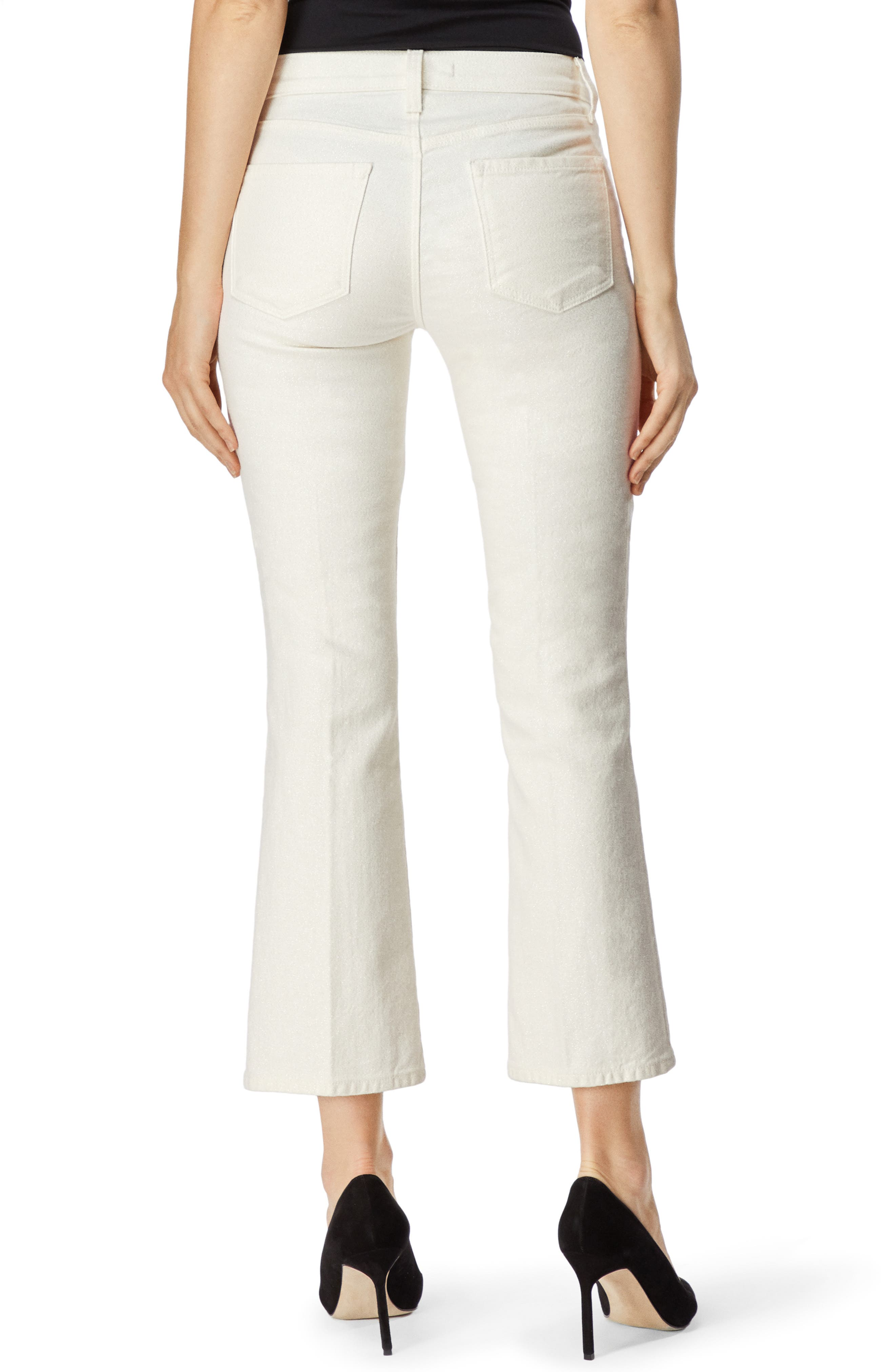 Selena Crop Bootcut Jeans,                             Alternate thumbnail 2, color,                             GLIMMER