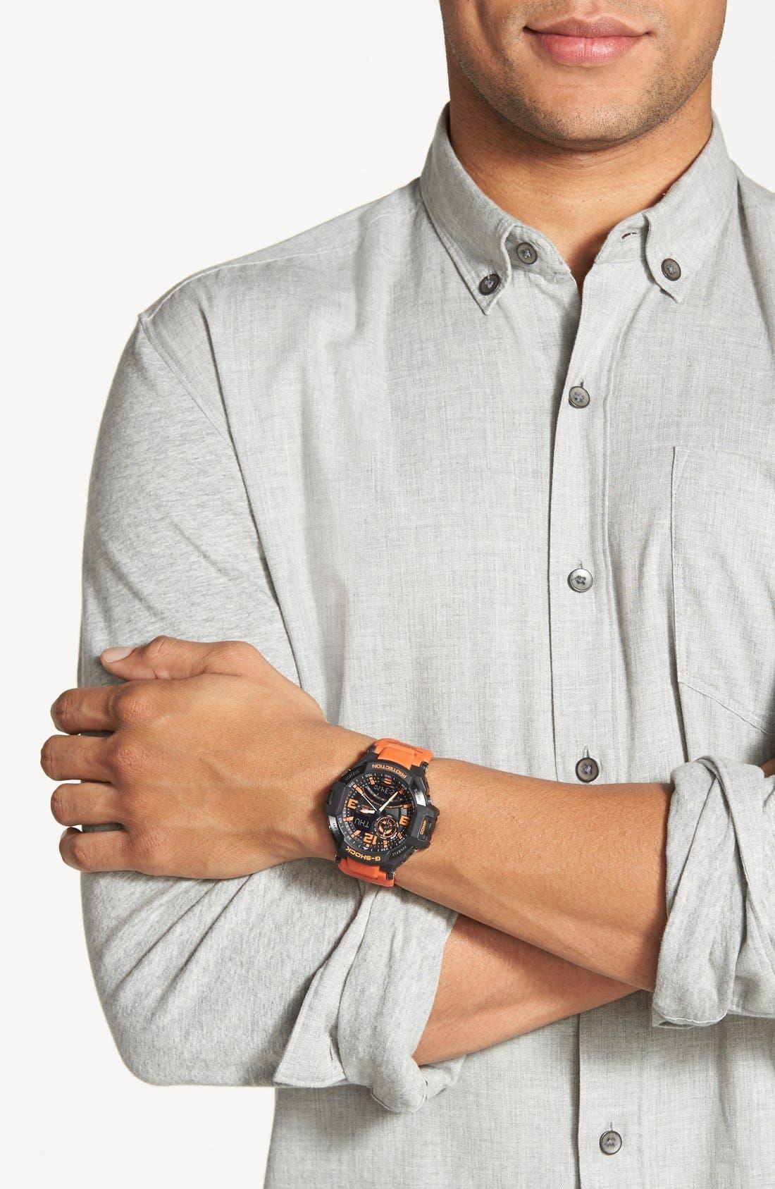 G-Shock 'Aviation' Ana-Digi Watch, 52mm,                             Alternate thumbnail 5, color,