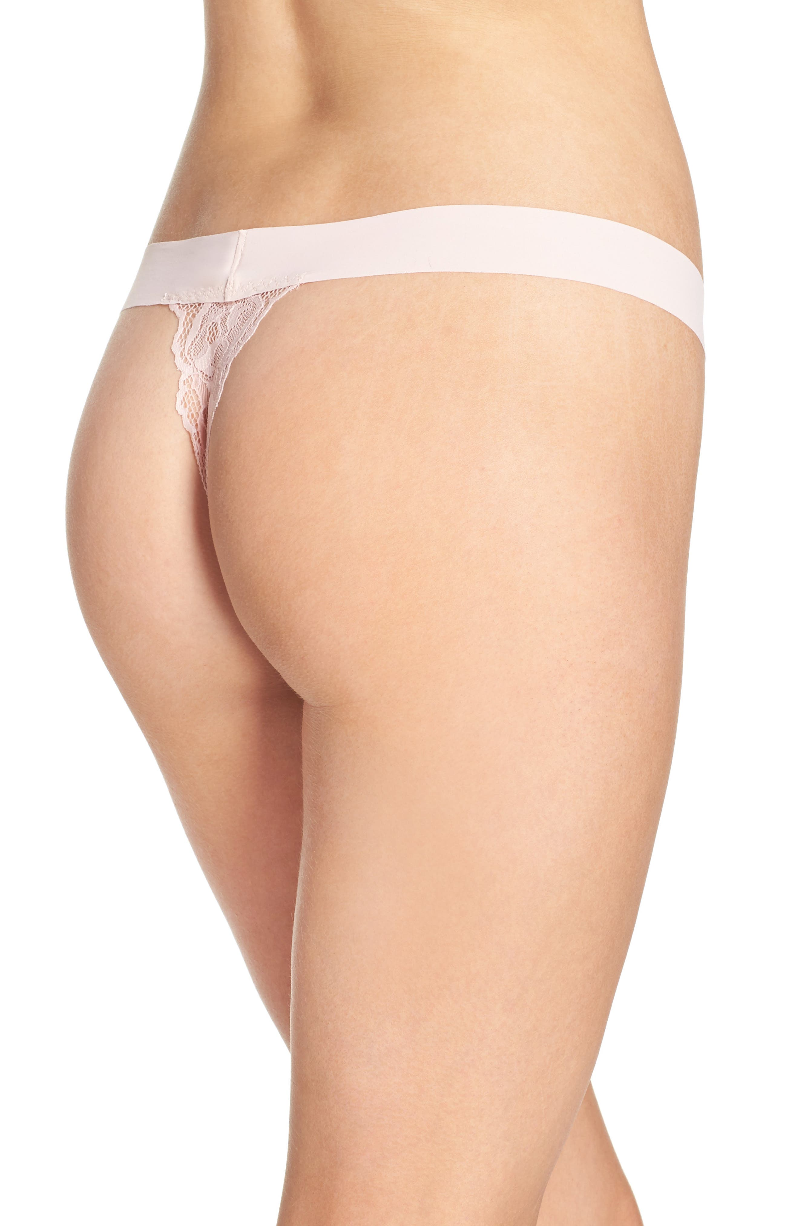 'Double Take' Lace G-String Thong,                             Alternate thumbnail 14, color,
