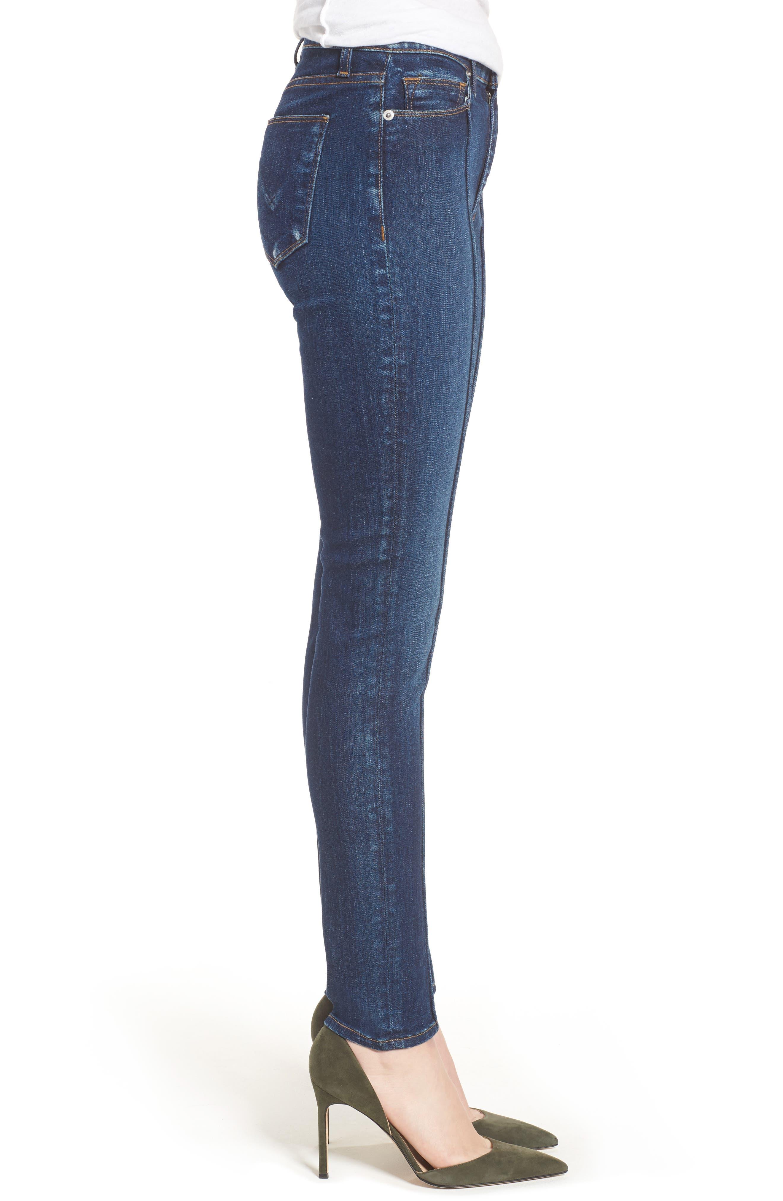 Barbara Pintuck Super Skinny Jeans,                             Alternate thumbnail 3, color,                             401