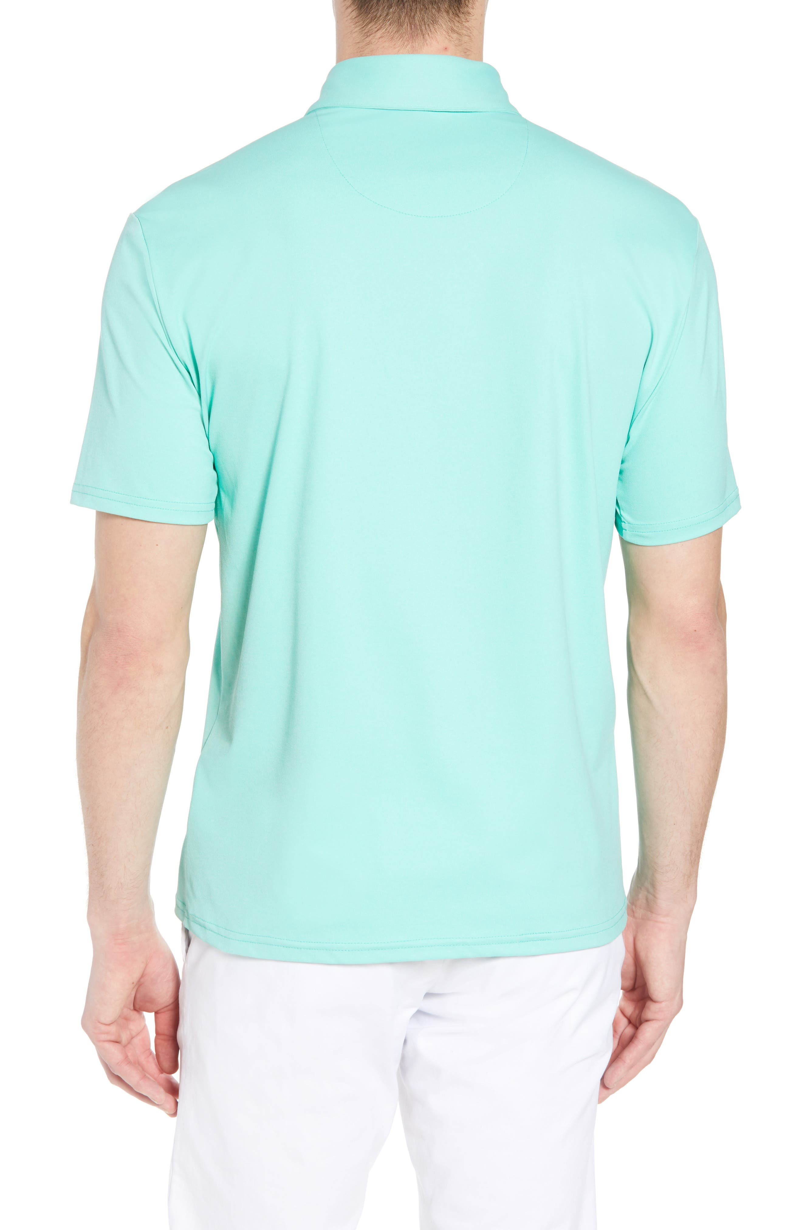 Slim Fit Active Polo,                             Alternate thumbnail 2, color,                             GREEN
