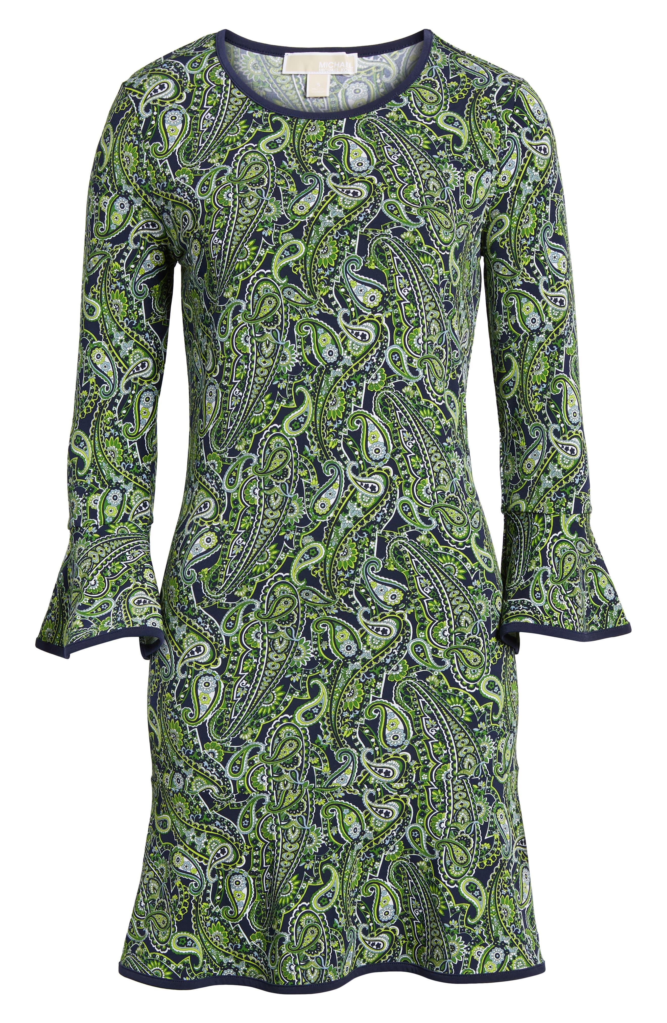 Paisley Flounce Dress,                             Alternate thumbnail 6, color,                             362