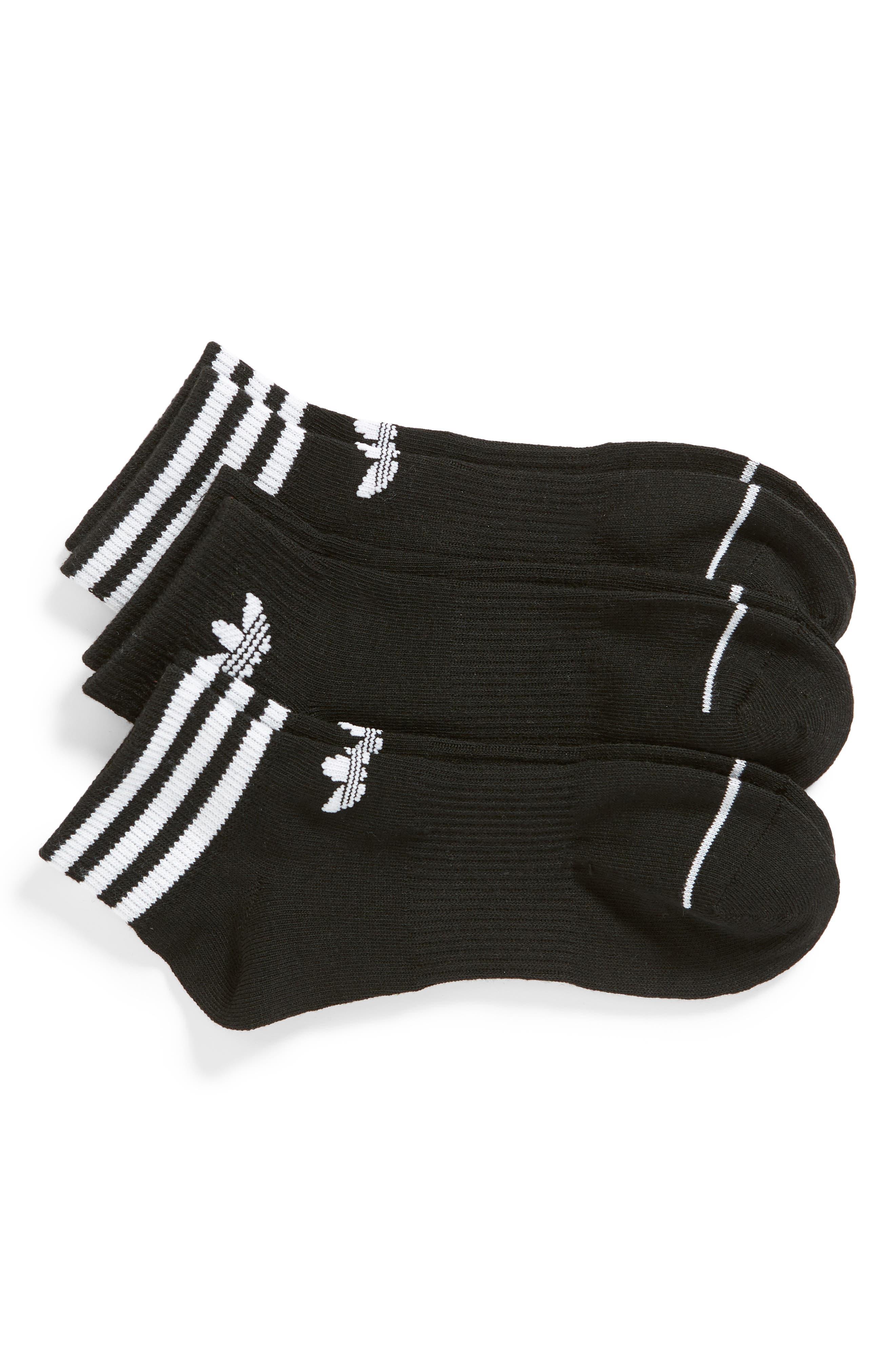 Originals 3-Pack Ankle Socks,                             Main thumbnail 1, color,                             BLACK