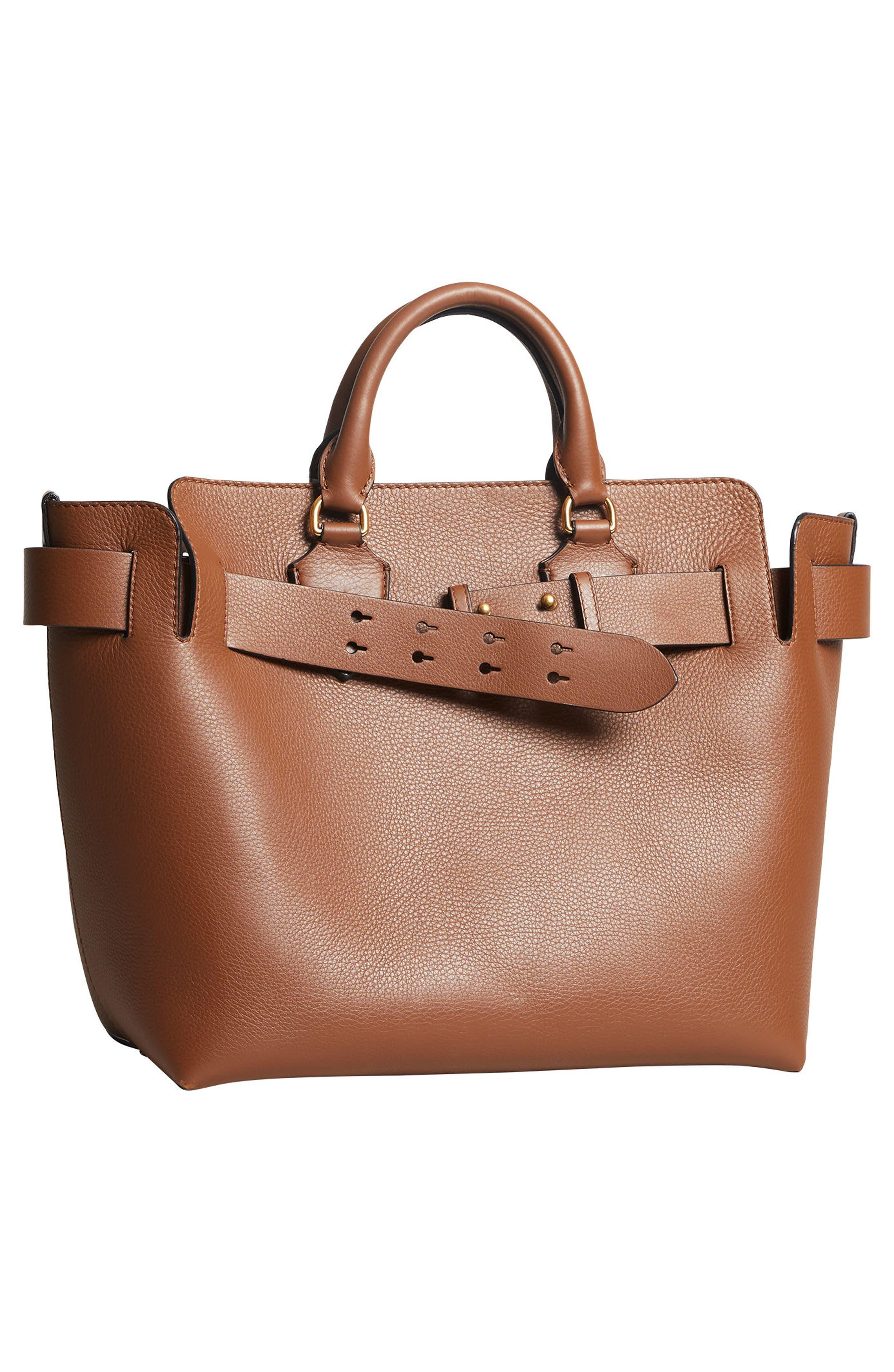 Medium Belt Bag Leather Tote,                             Alternate thumbnail 6, color,                             216