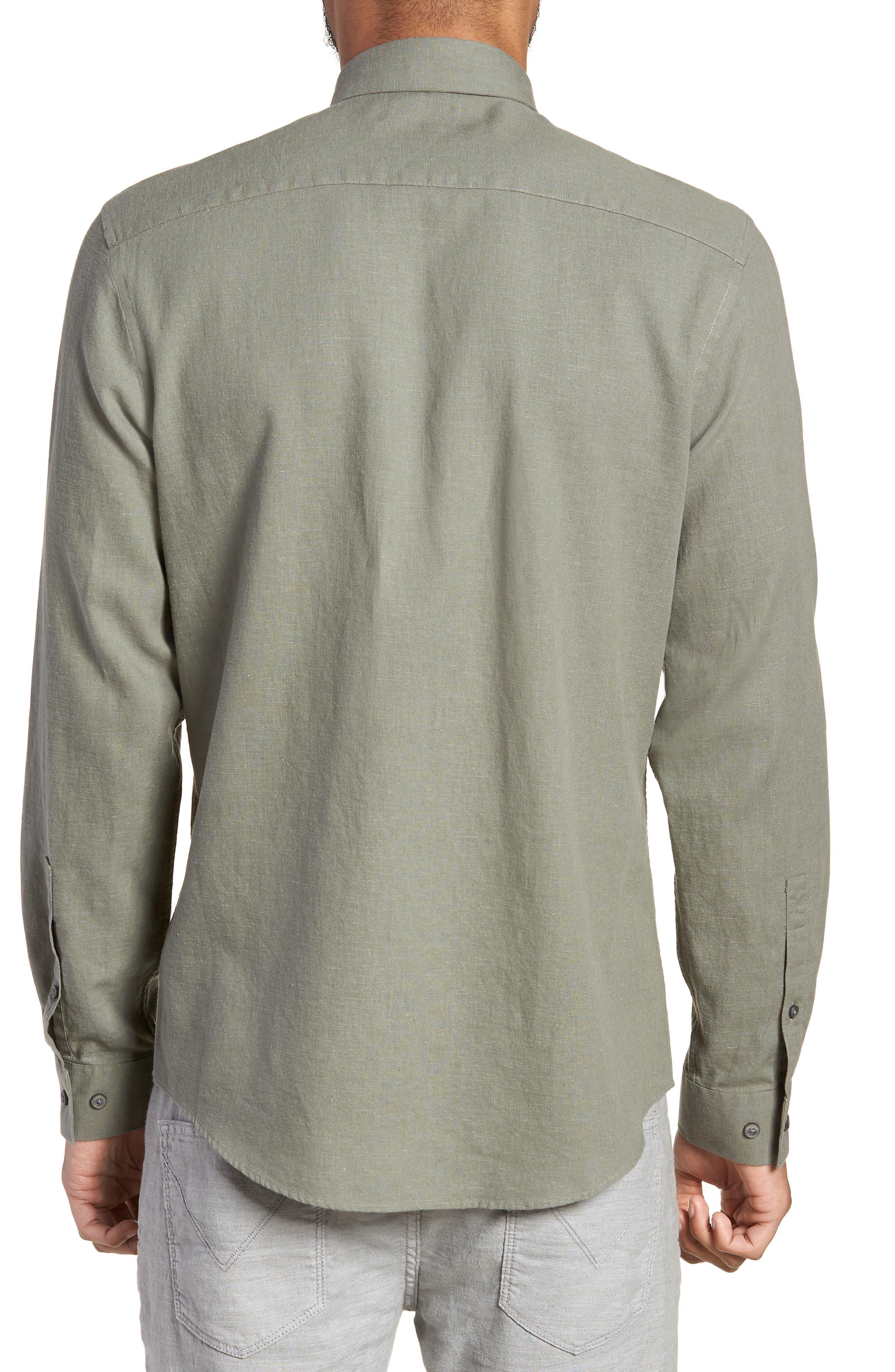 Linen Blend Sport Shirt,                             Alternate thumbnail 4, color,