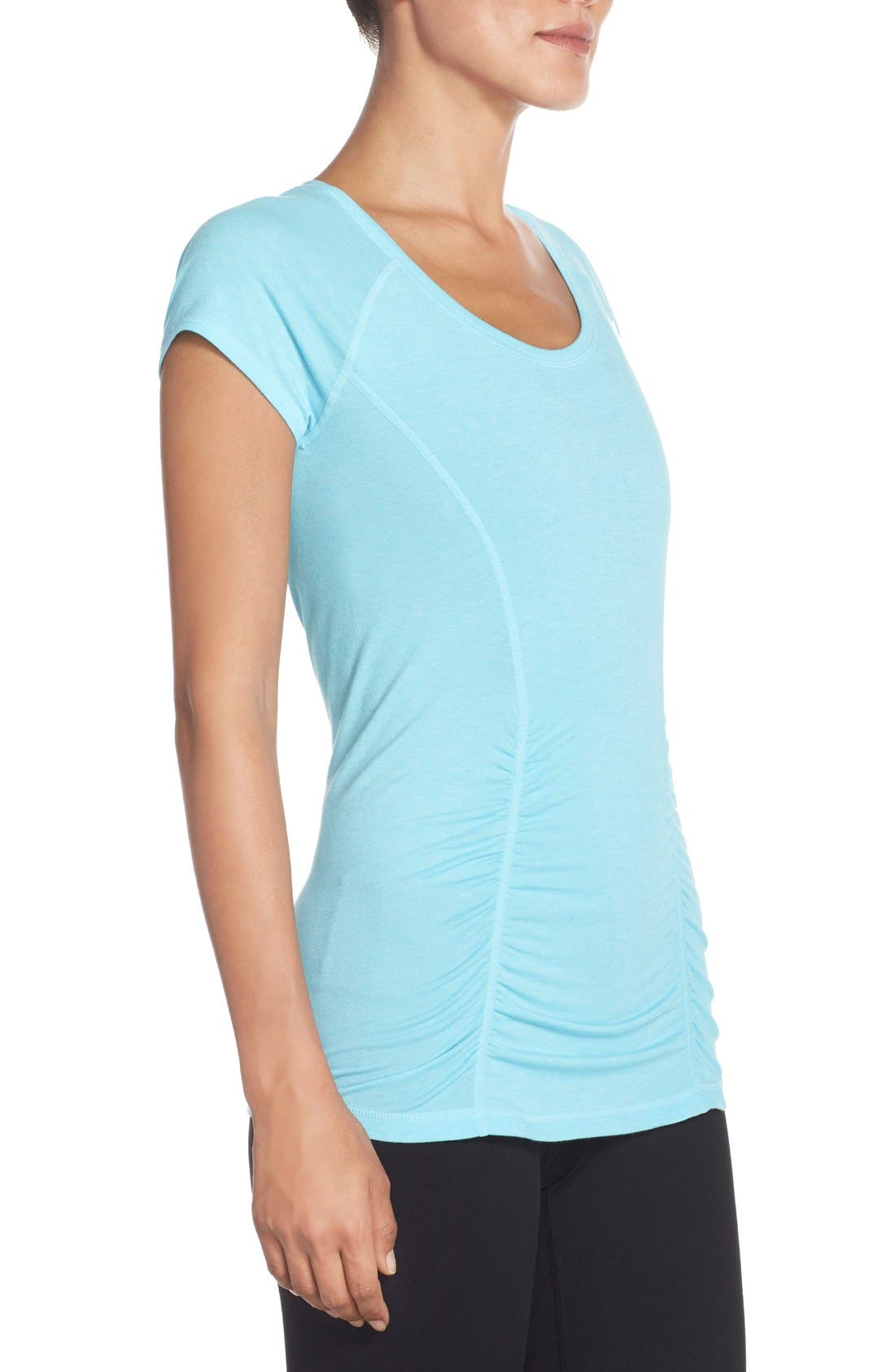 'Z 6' Ruched Tee,                             Alternate thumbnail 54, color,