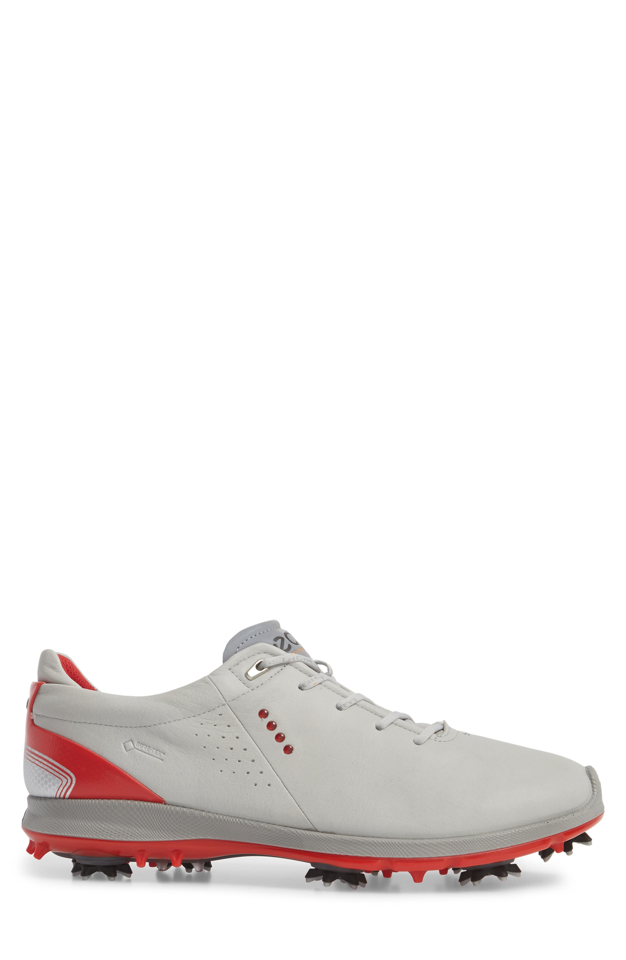 BIOM G 2 Free Gore-Tex<sup>®</sup> Golf Shoe,                             Alternate thumbnail 3, color,                             CONCRETE/ SCARLET LEATHER
