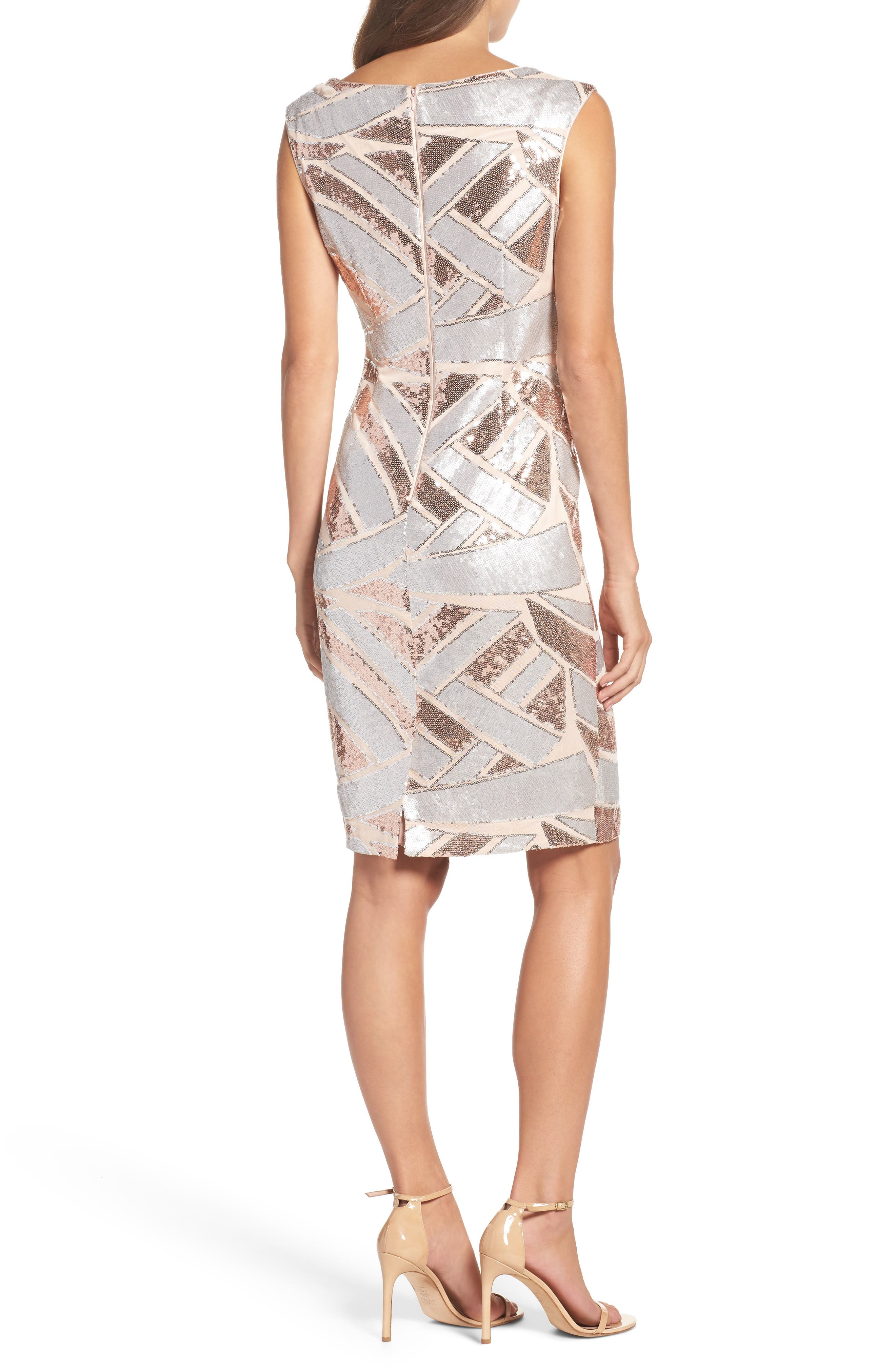 Sequin Body-Con Dress,                             Alternate thumbnail 2, color,