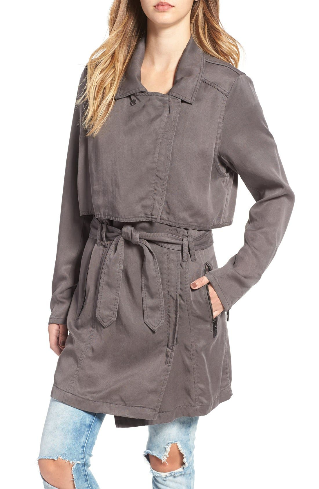 Drapey Trench Coat,                             Alternate thumbnail 5, color,                             300