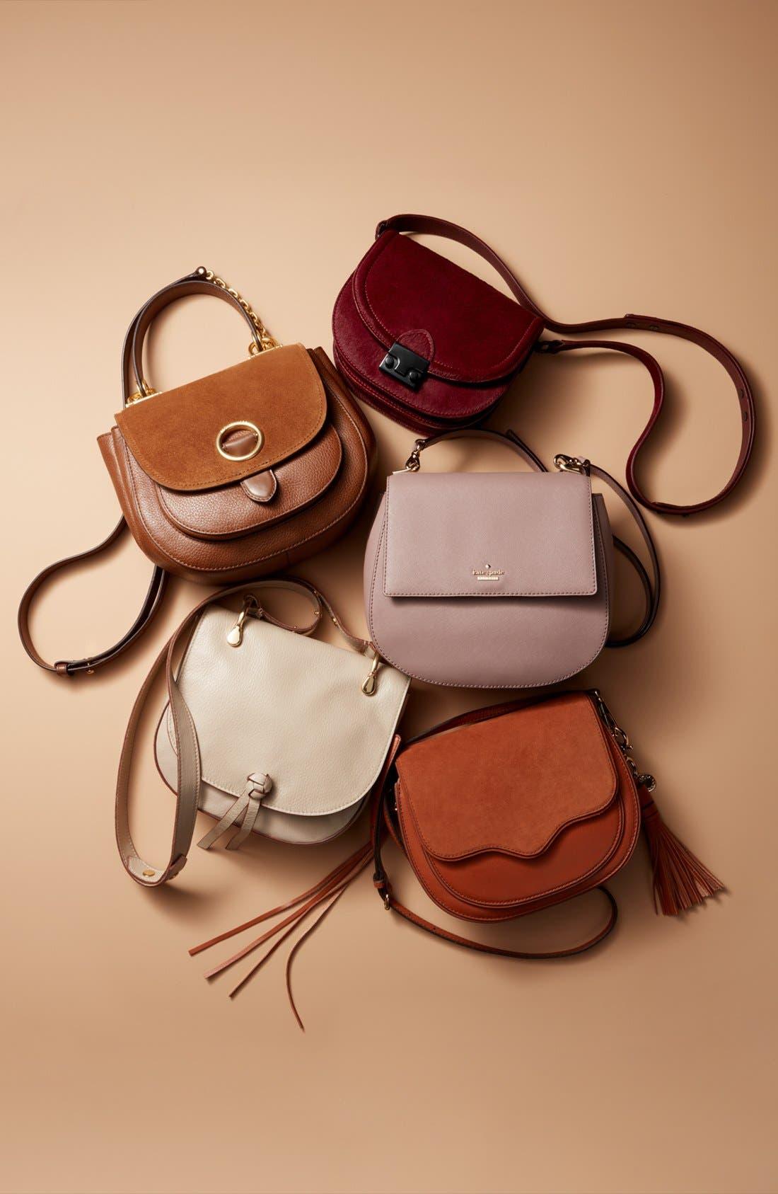 cameron street - byrdie leather crossbody bag,                             Alternate thumbnail 9, color,                             301