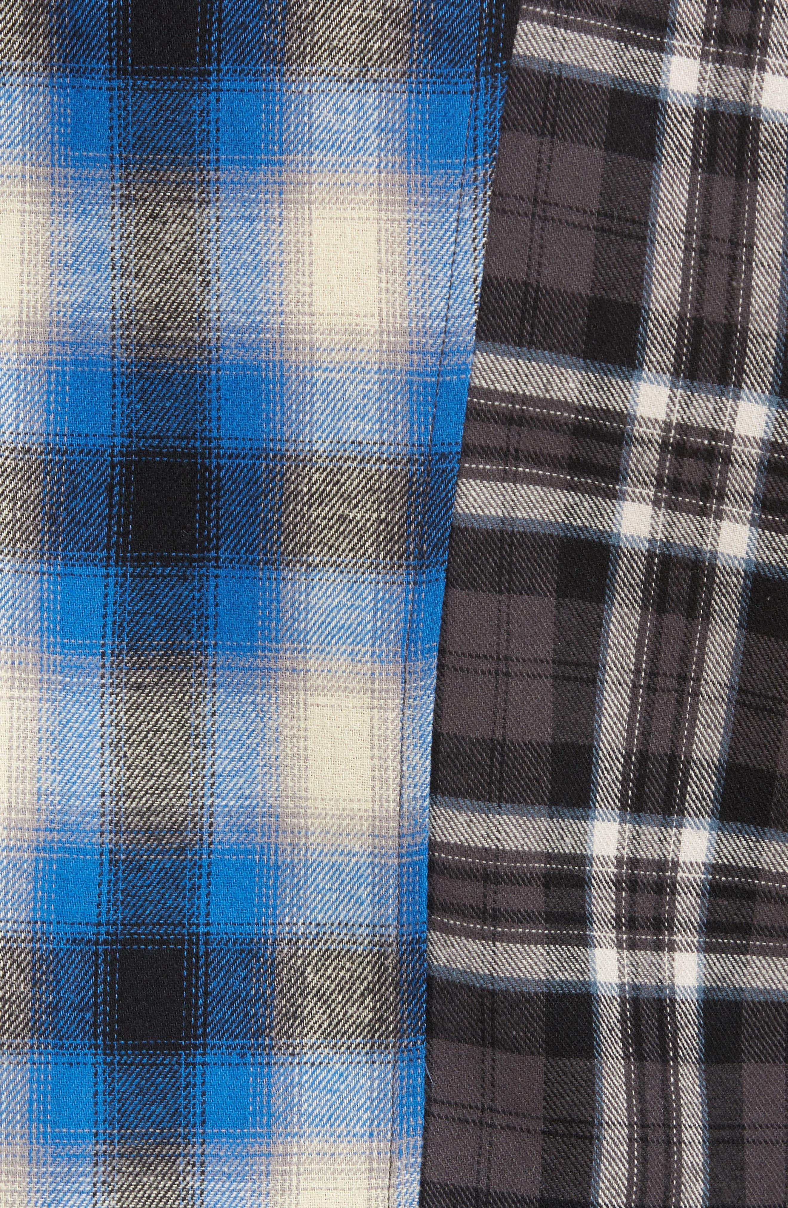Multi Plaid Woven Shirt,                             Alternate thumbnail 5, color,                             001