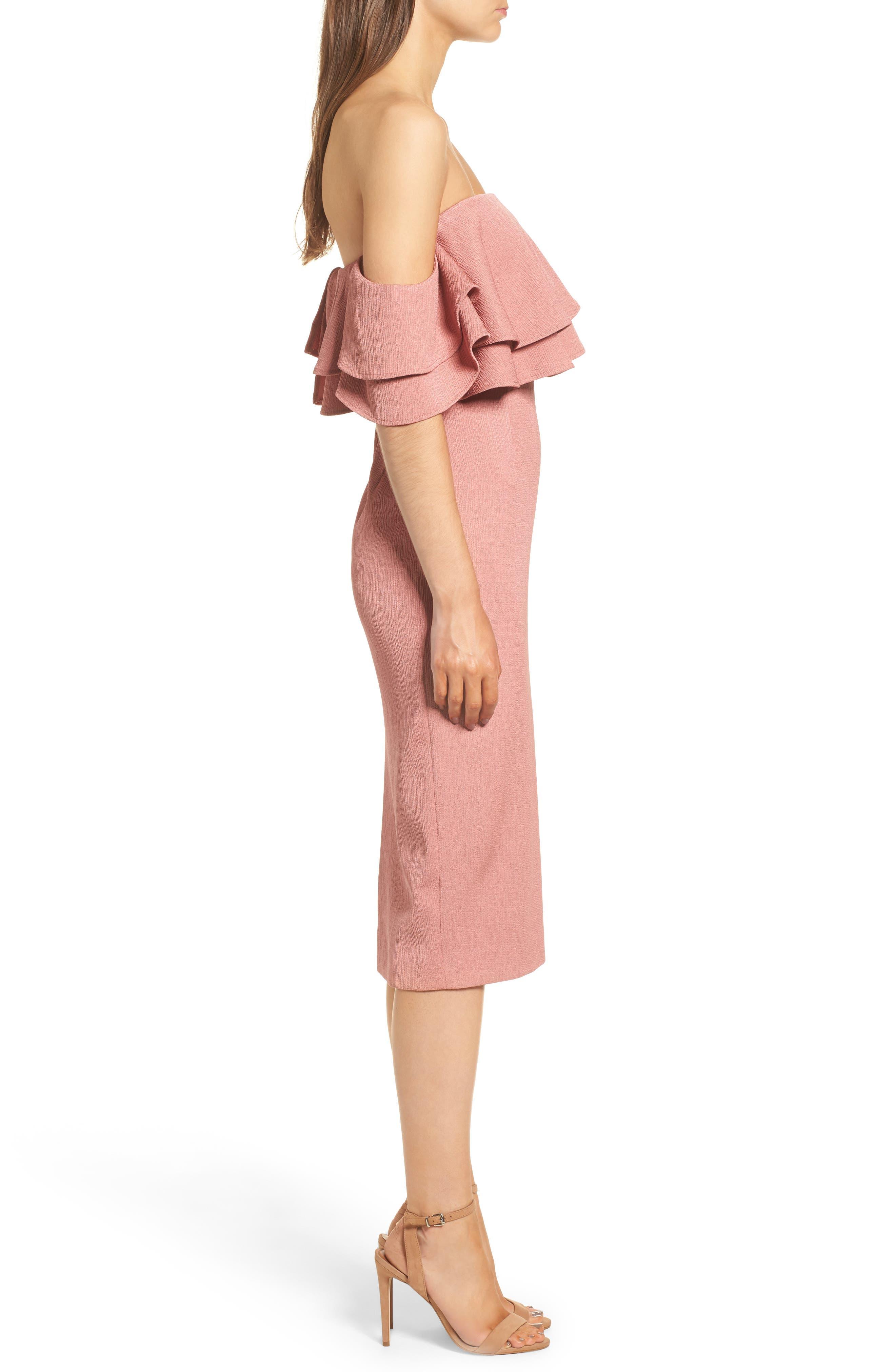 No Reason Off the Shoulder Sheath Dress,                             Alternate thumbnail 3, color,                             650