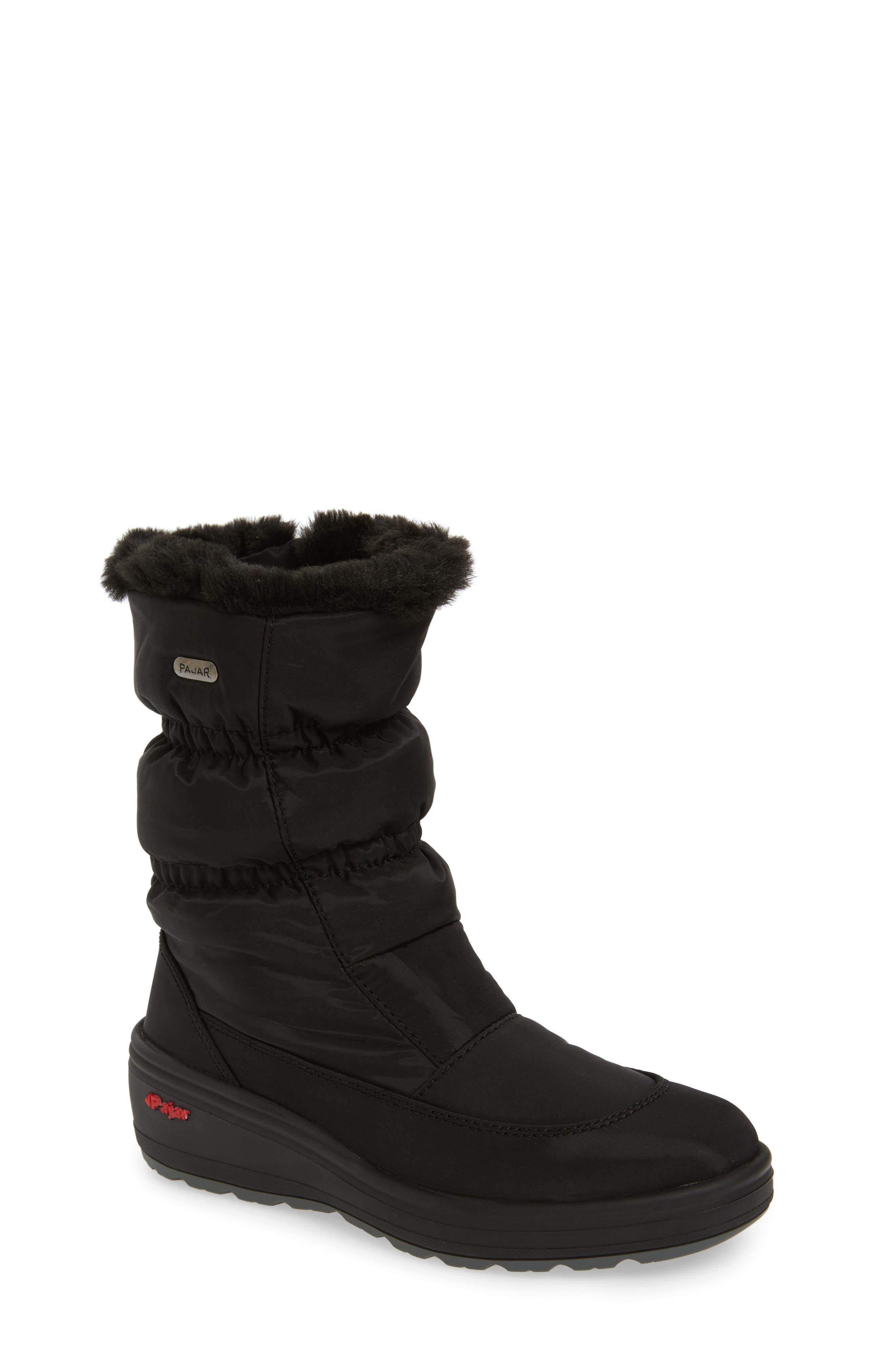 Snowcap Waterproof Insulated Winter Boot,                             Main thumbnail 1, color,                             BLACK FABRIC