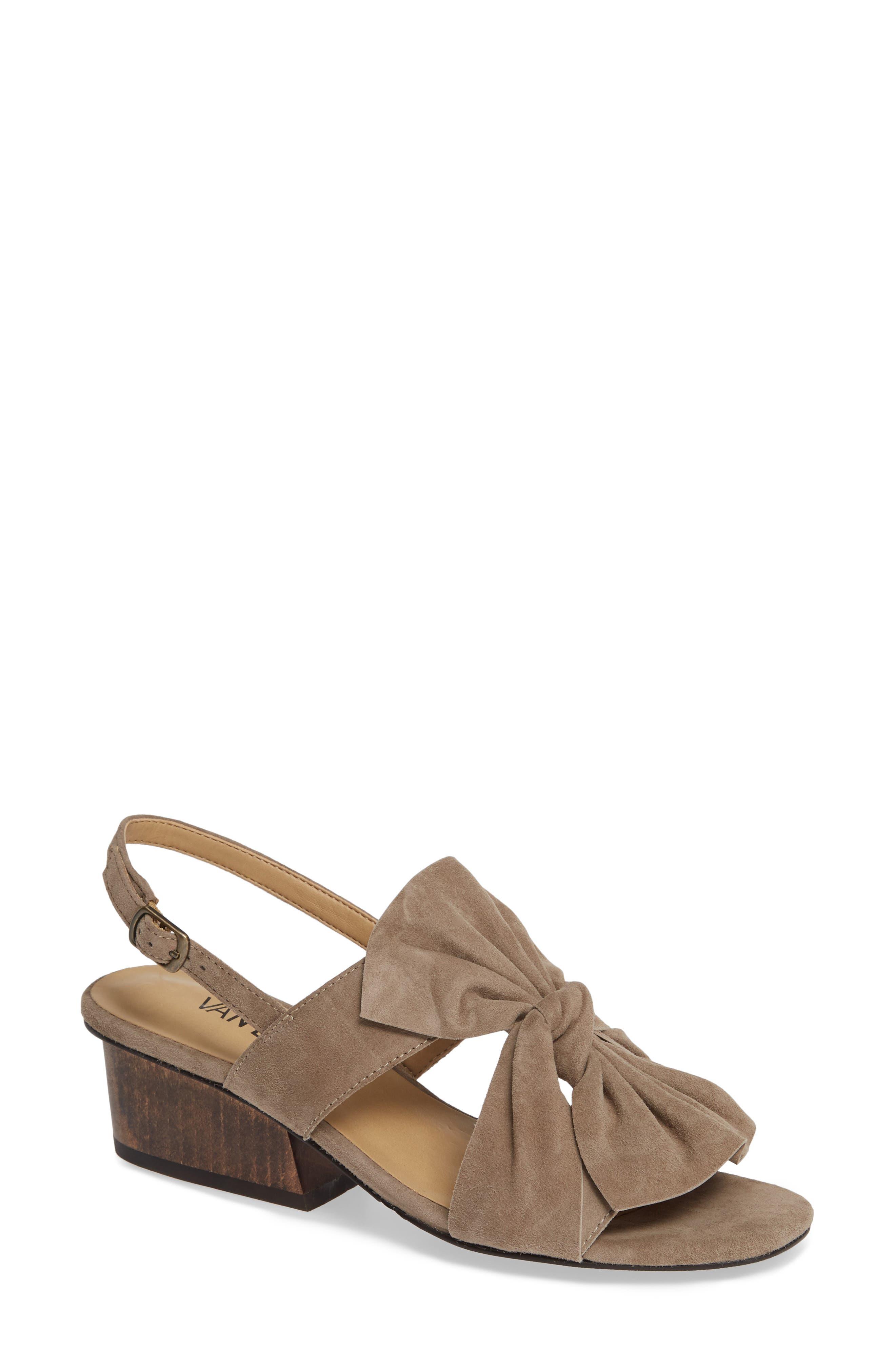 Camey Slingback Sandal,                         Main,                         color, TRUFFLE SUEDE