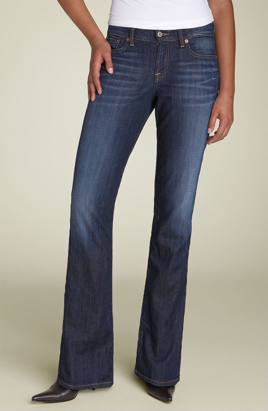 LUCKY BRAND,                             'Delaware Classic Rider' Stretch Jeans,                             Alternate thumbnail 2, color,                             460