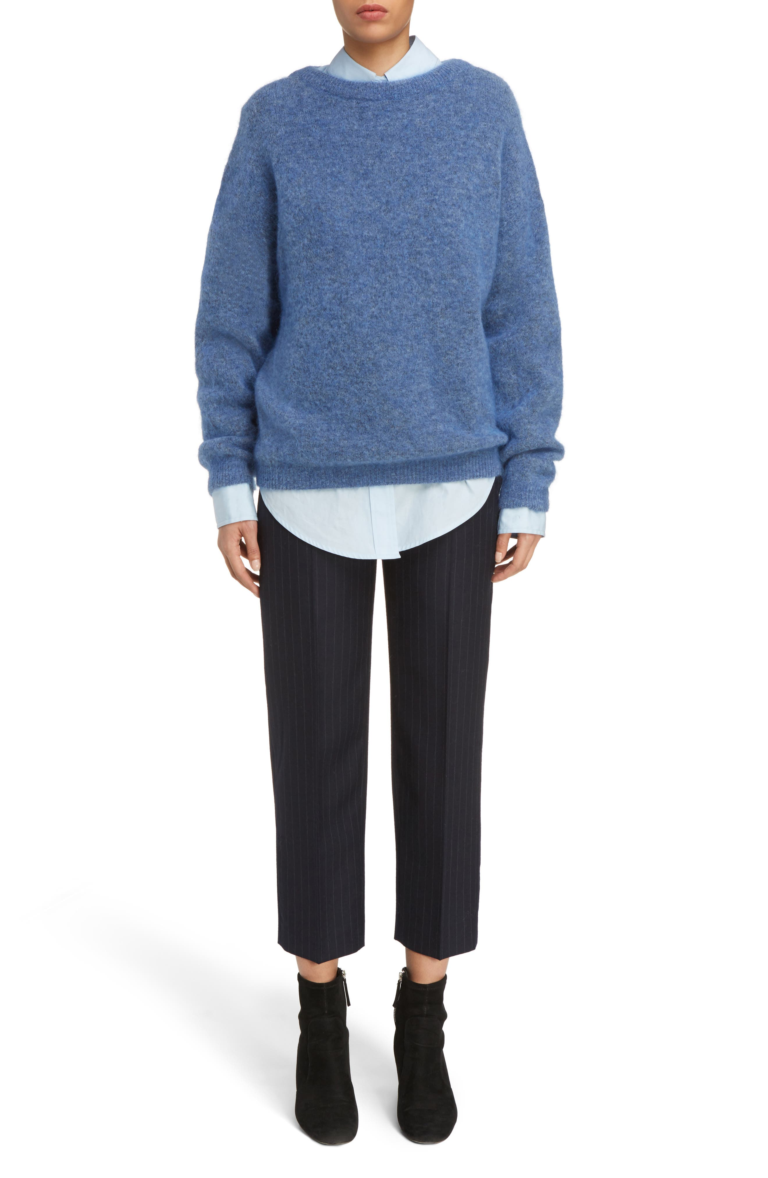 Dramatic Oversized Mohair Blend Sweater,                             Alternate thumbnail 6, color,