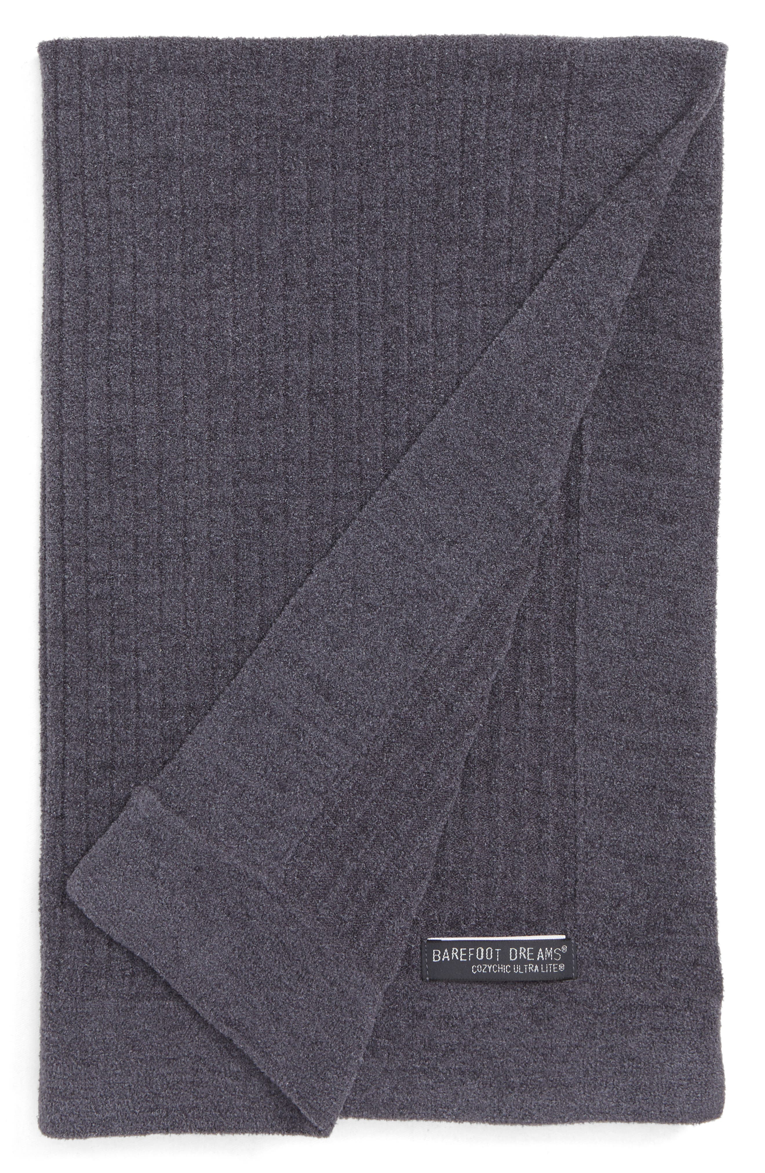 BAREFOOT DREAMS<SUP>®</SUP>,                             Cozychic<sup>®</sup> Ultra Lite Ribbed Blanket,                             Main thumbnail 1, color,                             PACIFIC BLUE