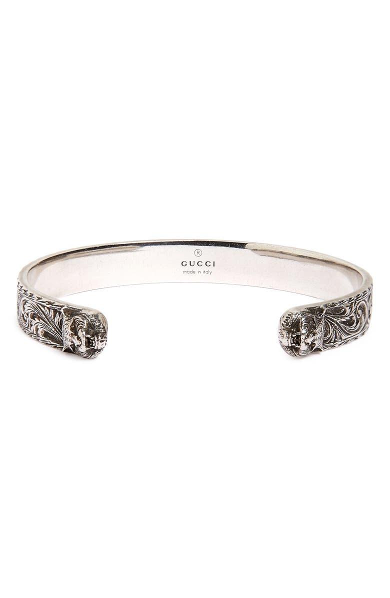 Feline Head Cuff Bracelet