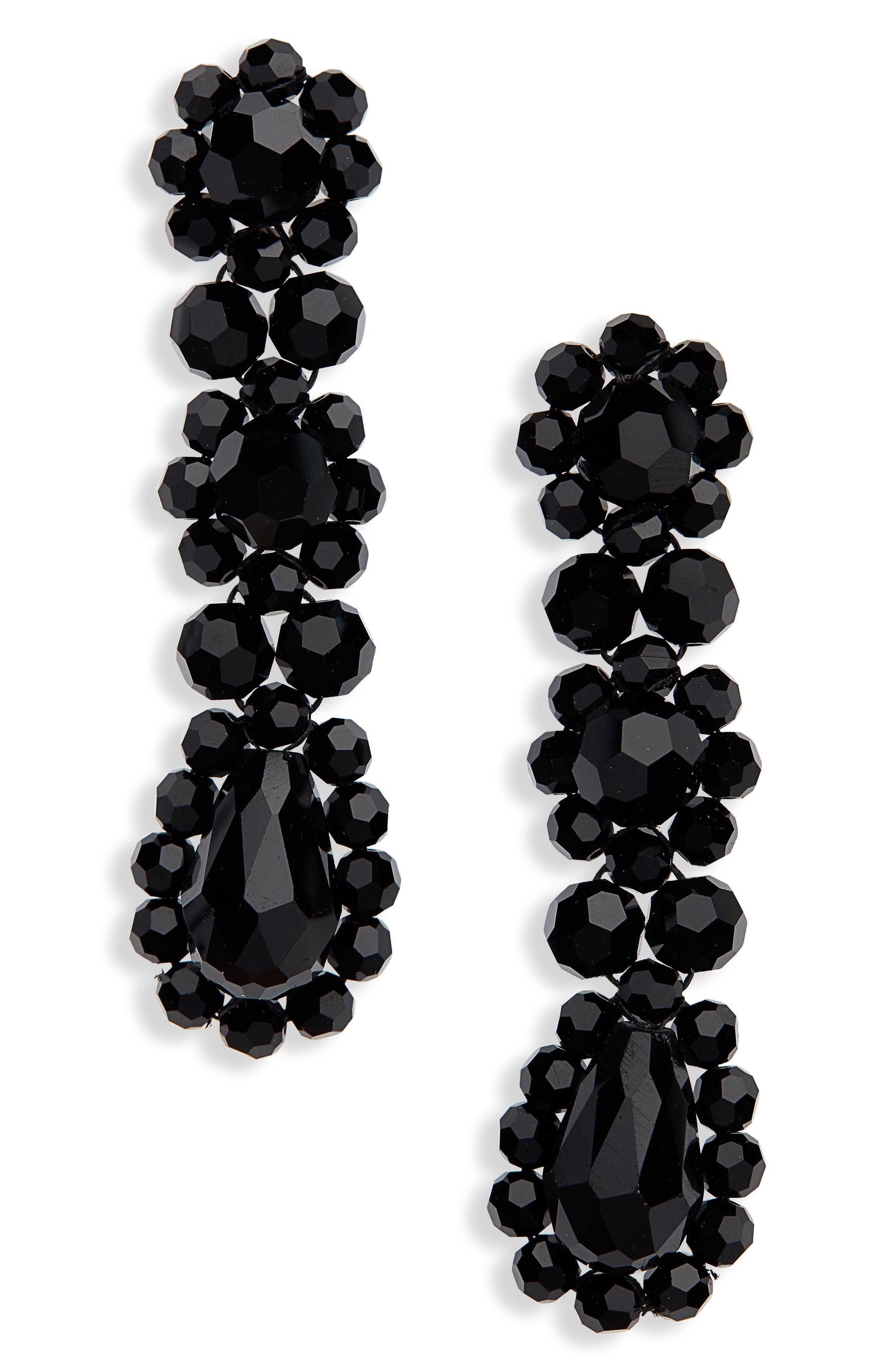 Triple Drop Earrings,                             Main thumbnail 1, color,                             001